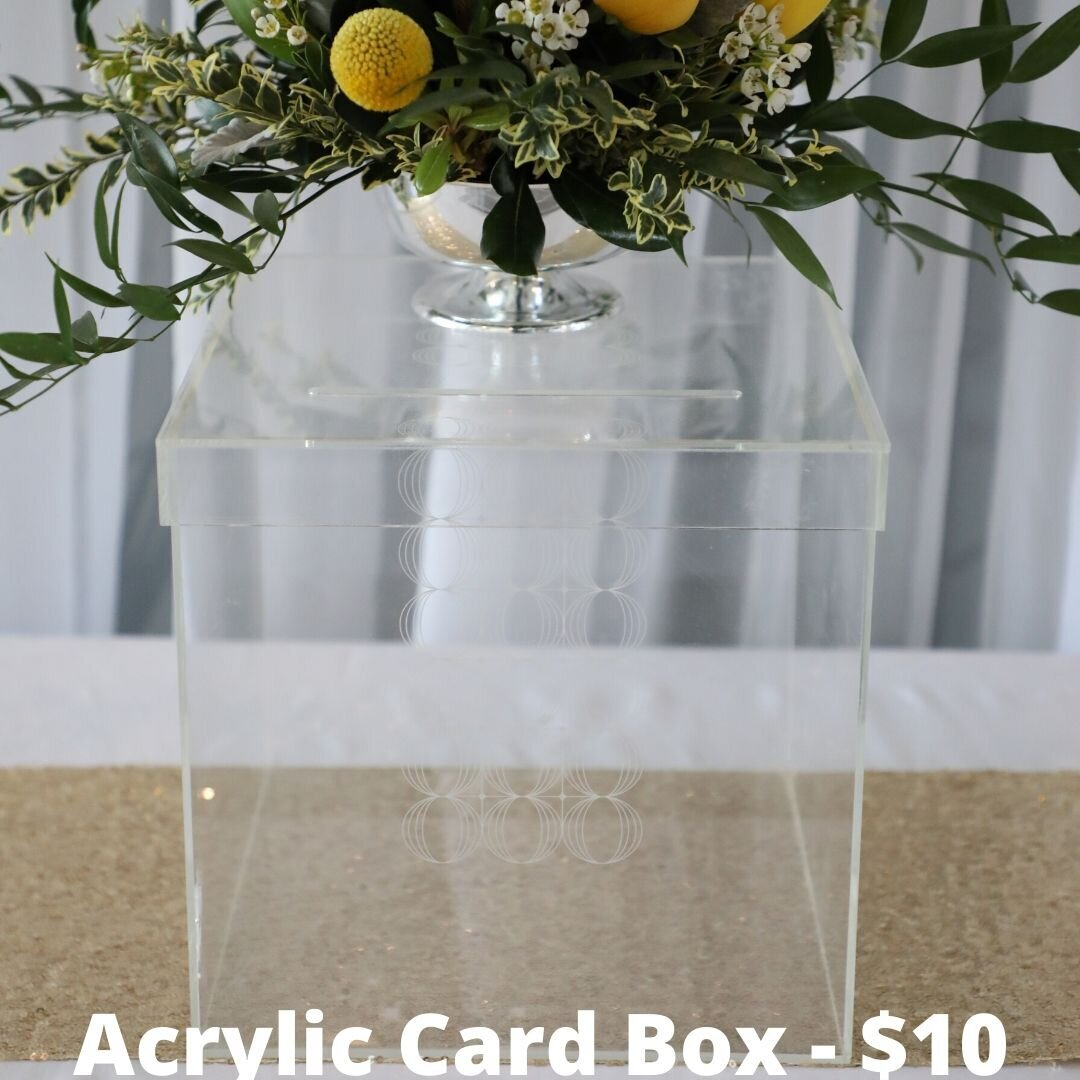 acrylic card box