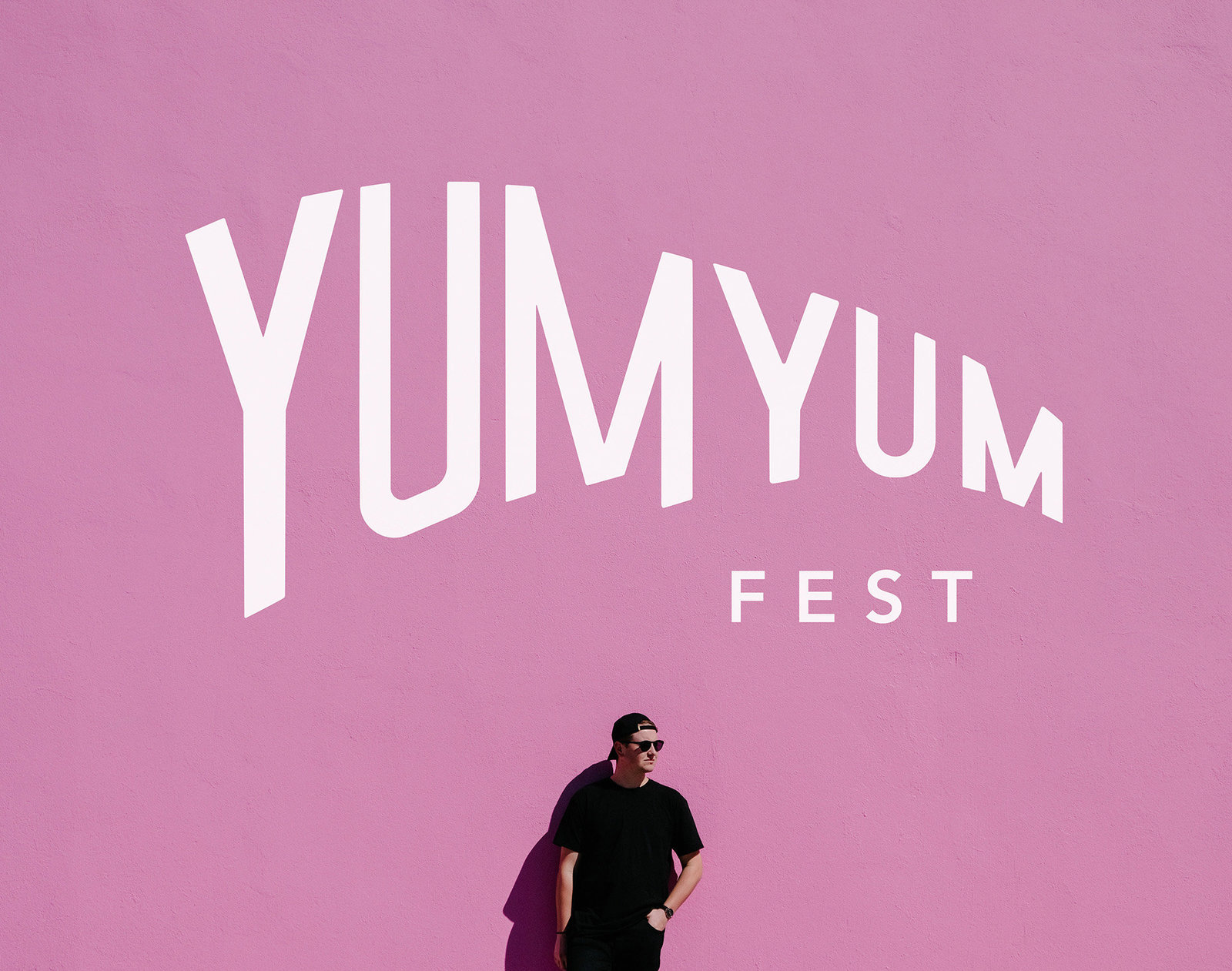 Event branding and logo design for a summer food festival, Yum Yum Fest, by Christie Evenson