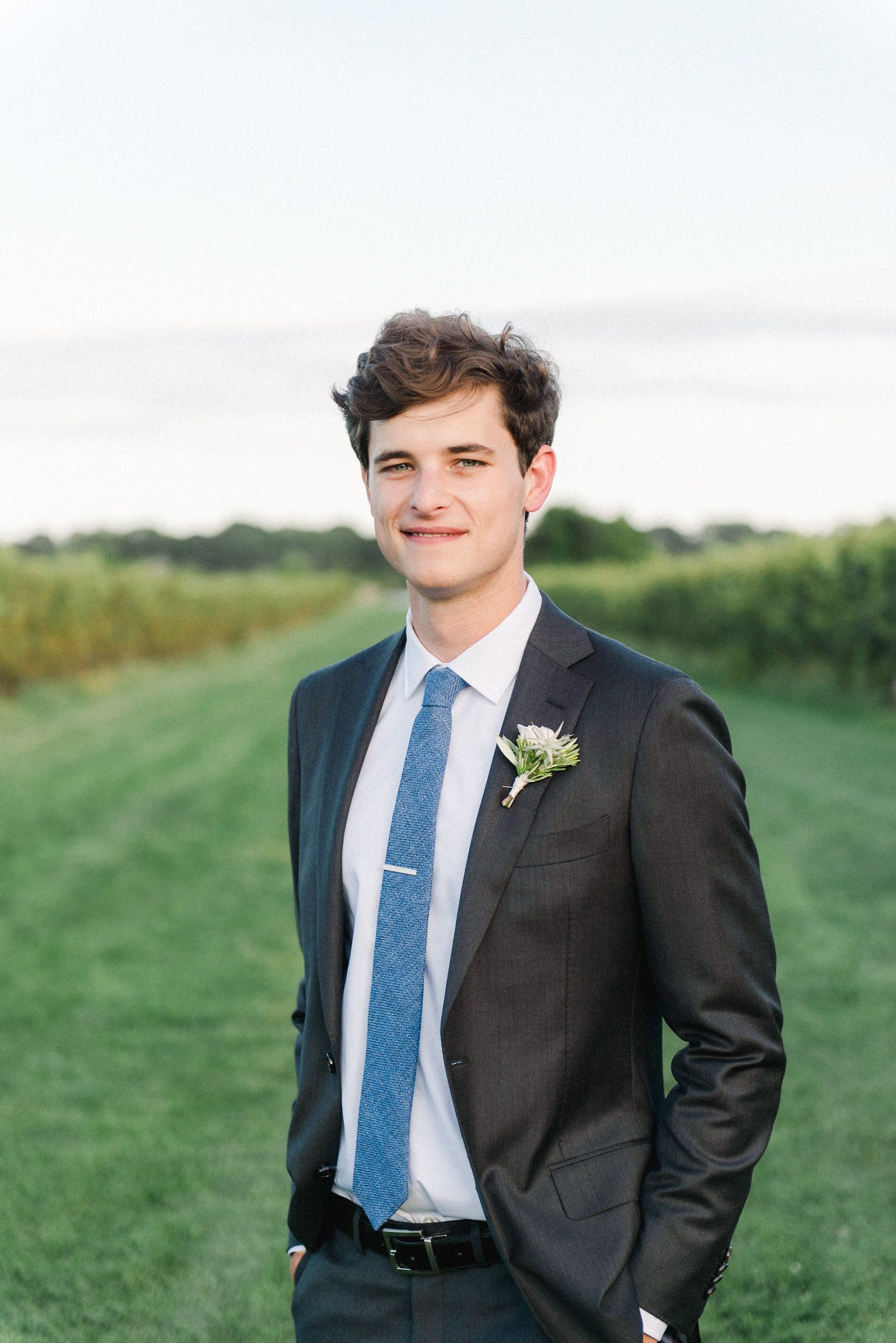 Groom Fashion Gray Suit_Saltwater Farm Vineyard Wedding