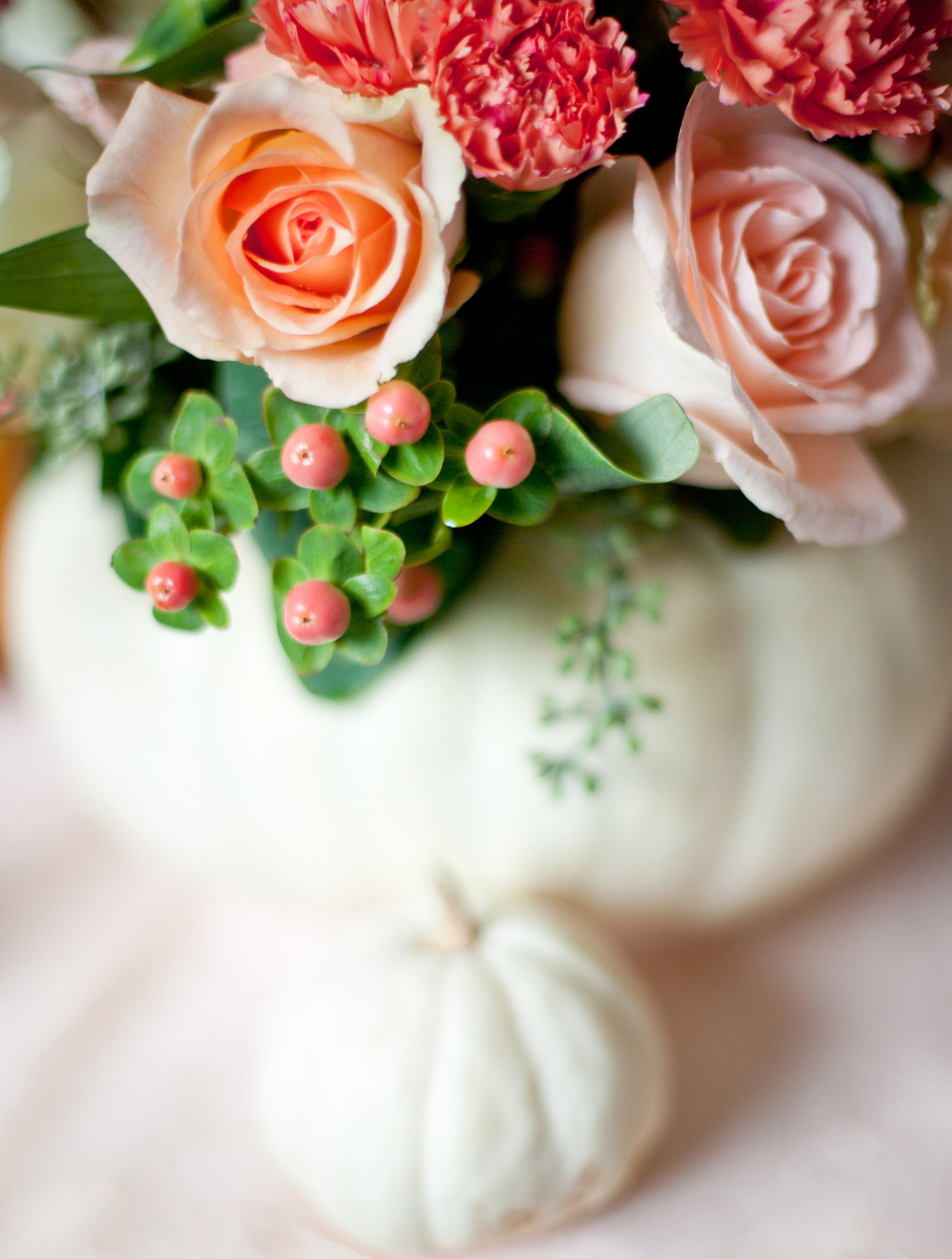 White Pumpkin Floral Centerpiece