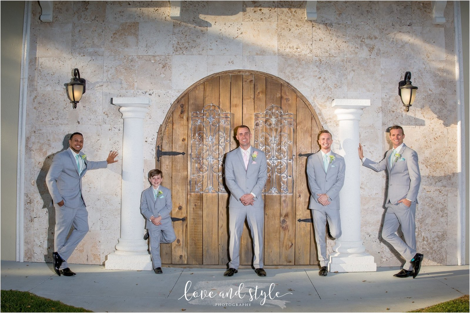 Bakers Ranch Wedding Photography of groom with his groomsmen
