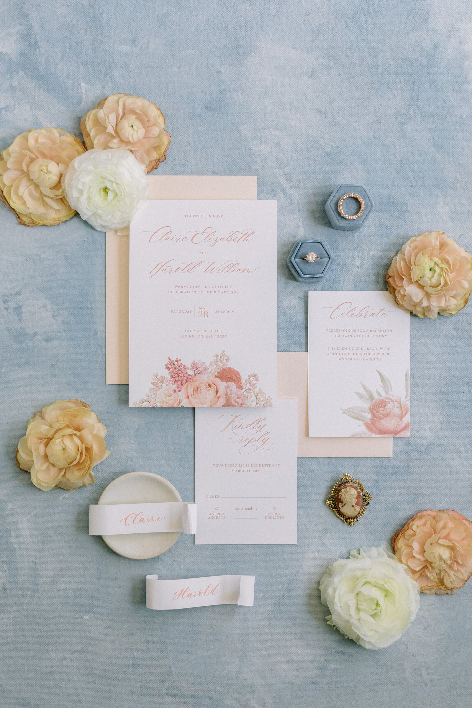 stationary and flowers
