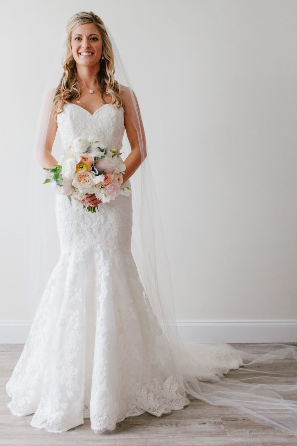 Gorgeous modern bride at Belle Mer in Newport, RI