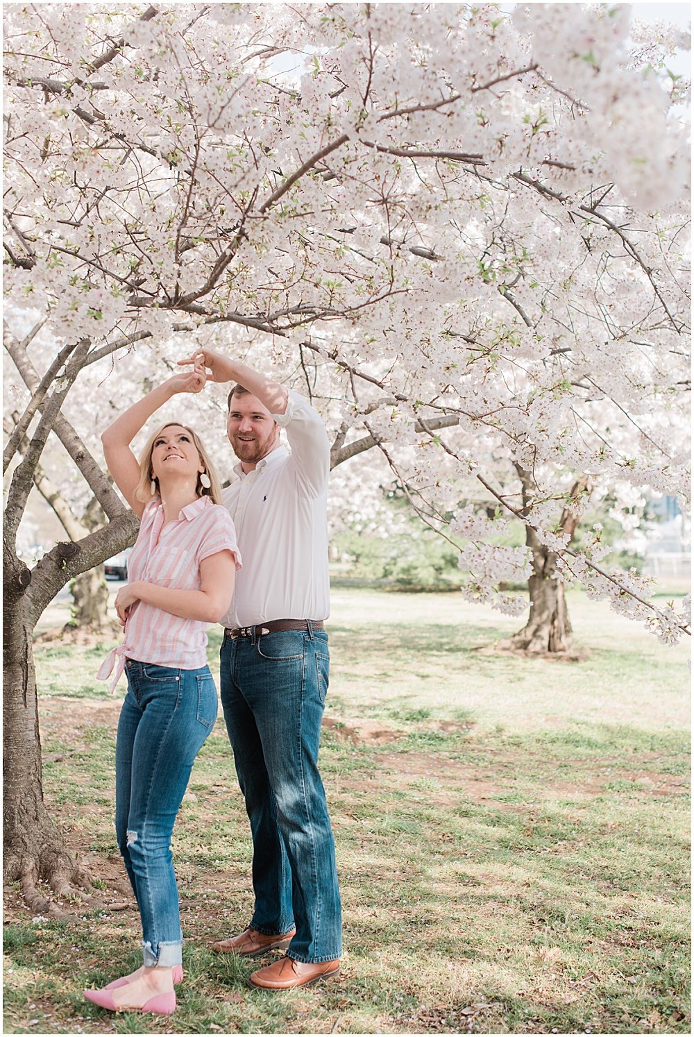 Washington, DC Cherry Blossom Engagement Photos_0001
