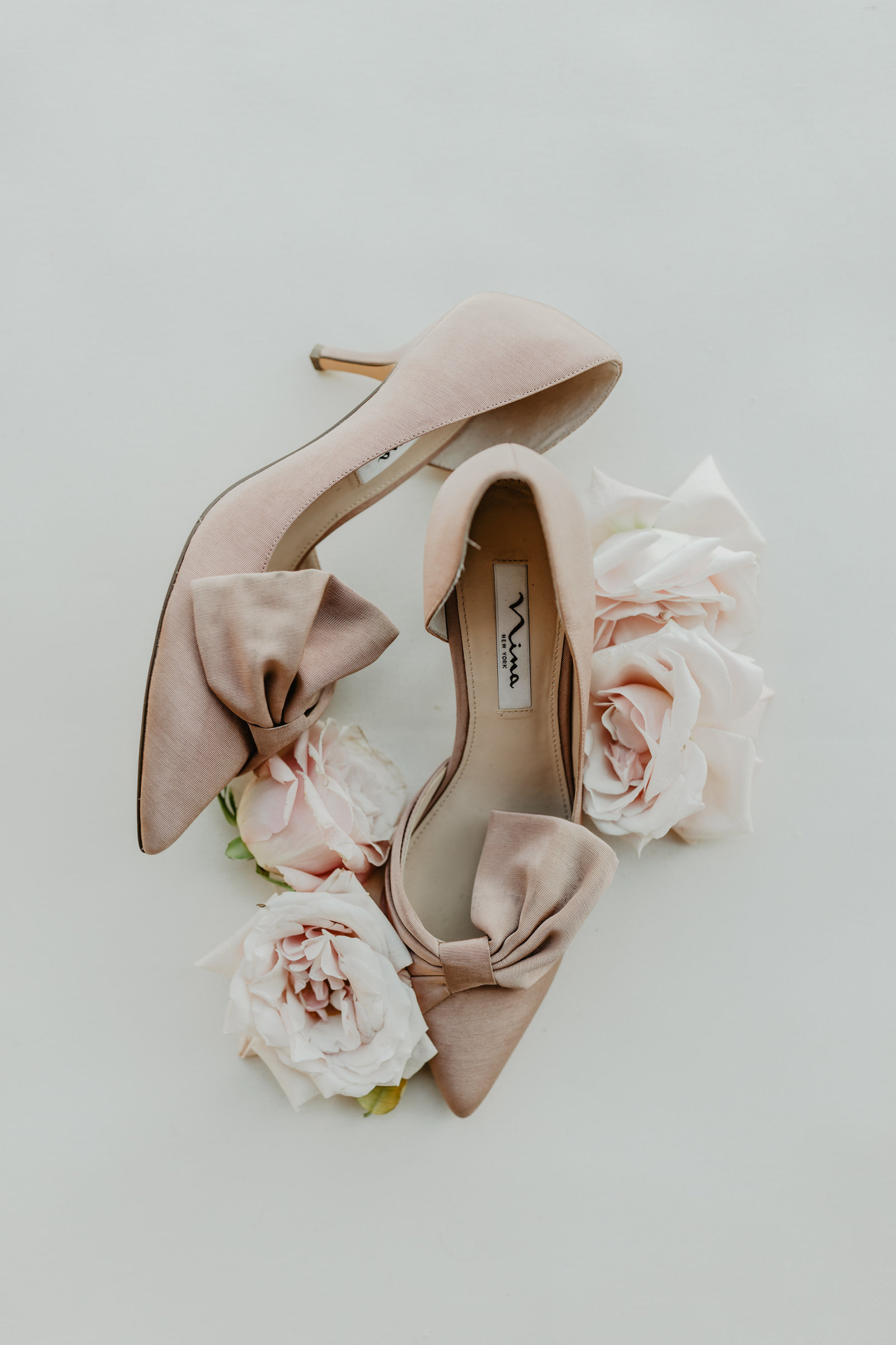 Soft blush Nina wedding shoes.