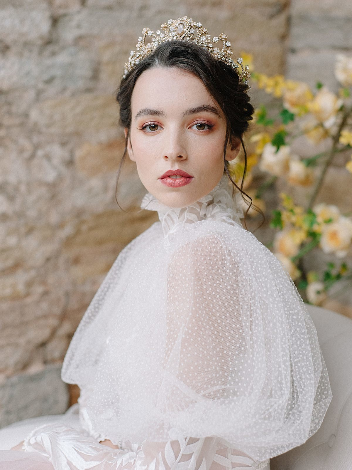 Helianthus-high-neck-puff-sleeve-wedding-dress-JoanneFlemingDesign-CelineChhuonPhoto (42)_WEB