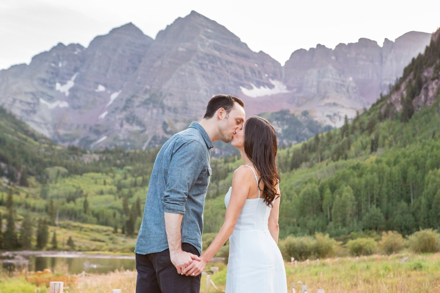 Engagement photography at Maroon Bells in Aspen