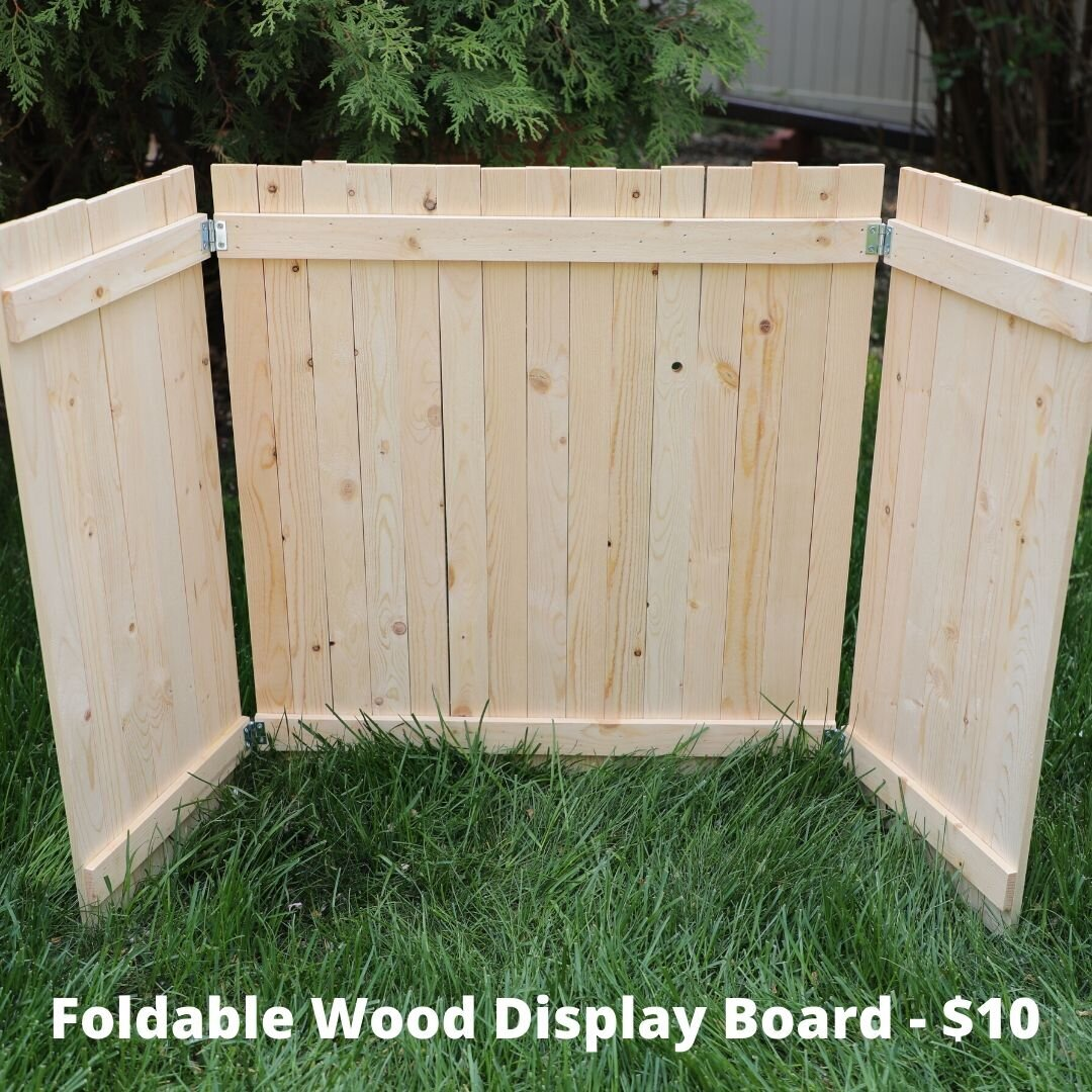 wood display board