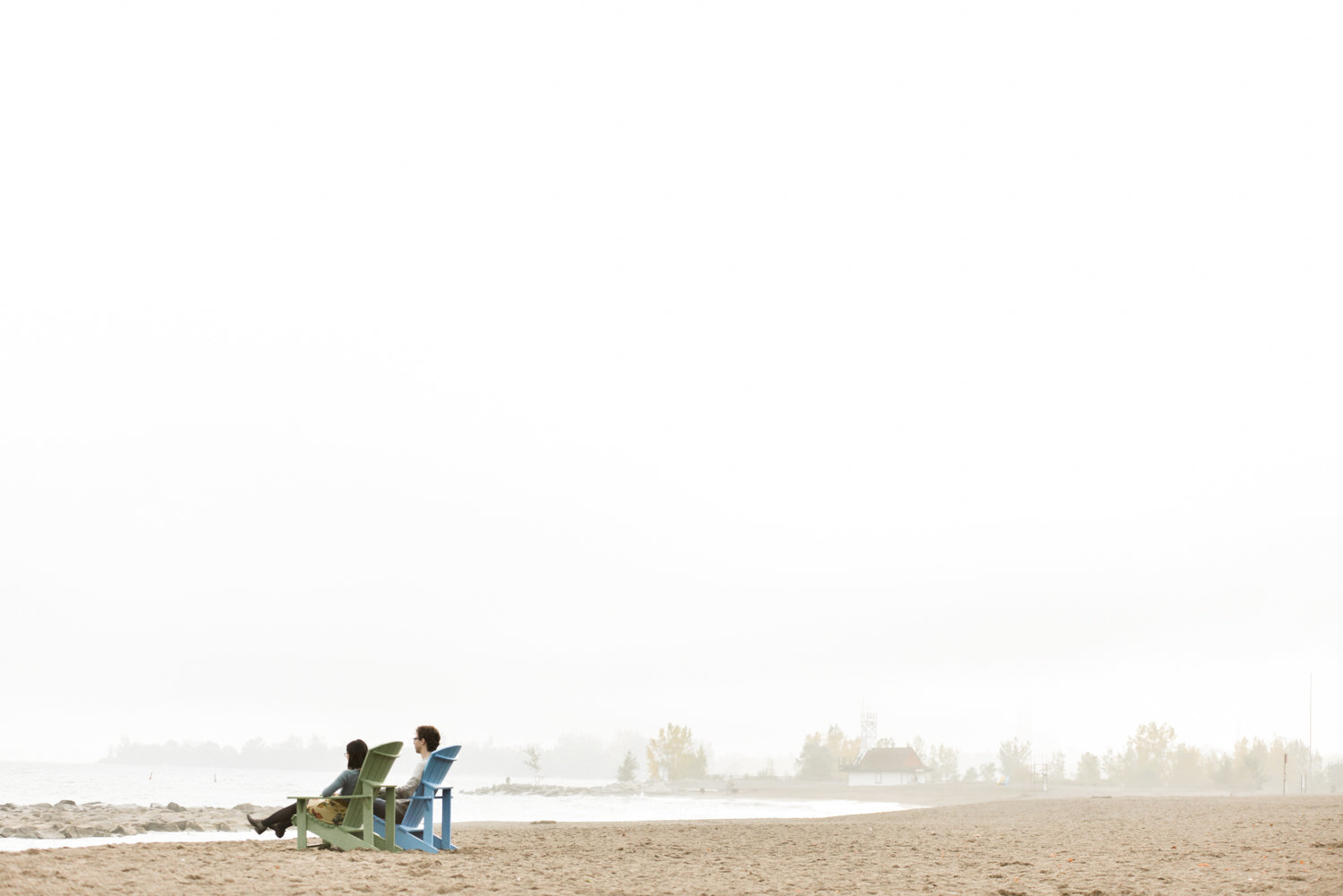 Beached engagement session