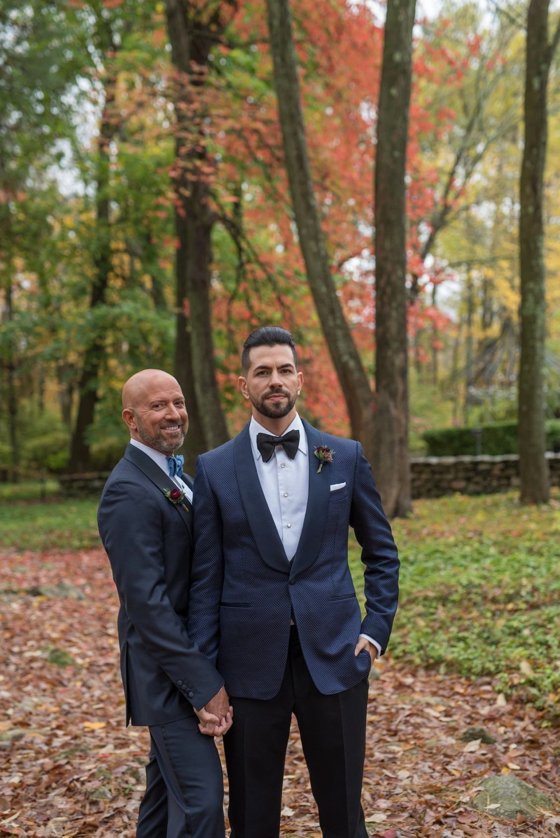 Brendan & Ryan celebrate their fall wedding at Lord Thompson Manor in CT.