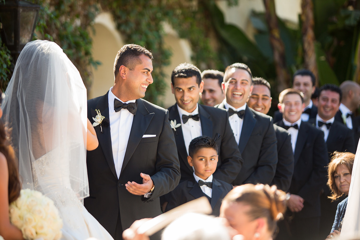 The candid moments are some of our favorites from wedding ceremonies