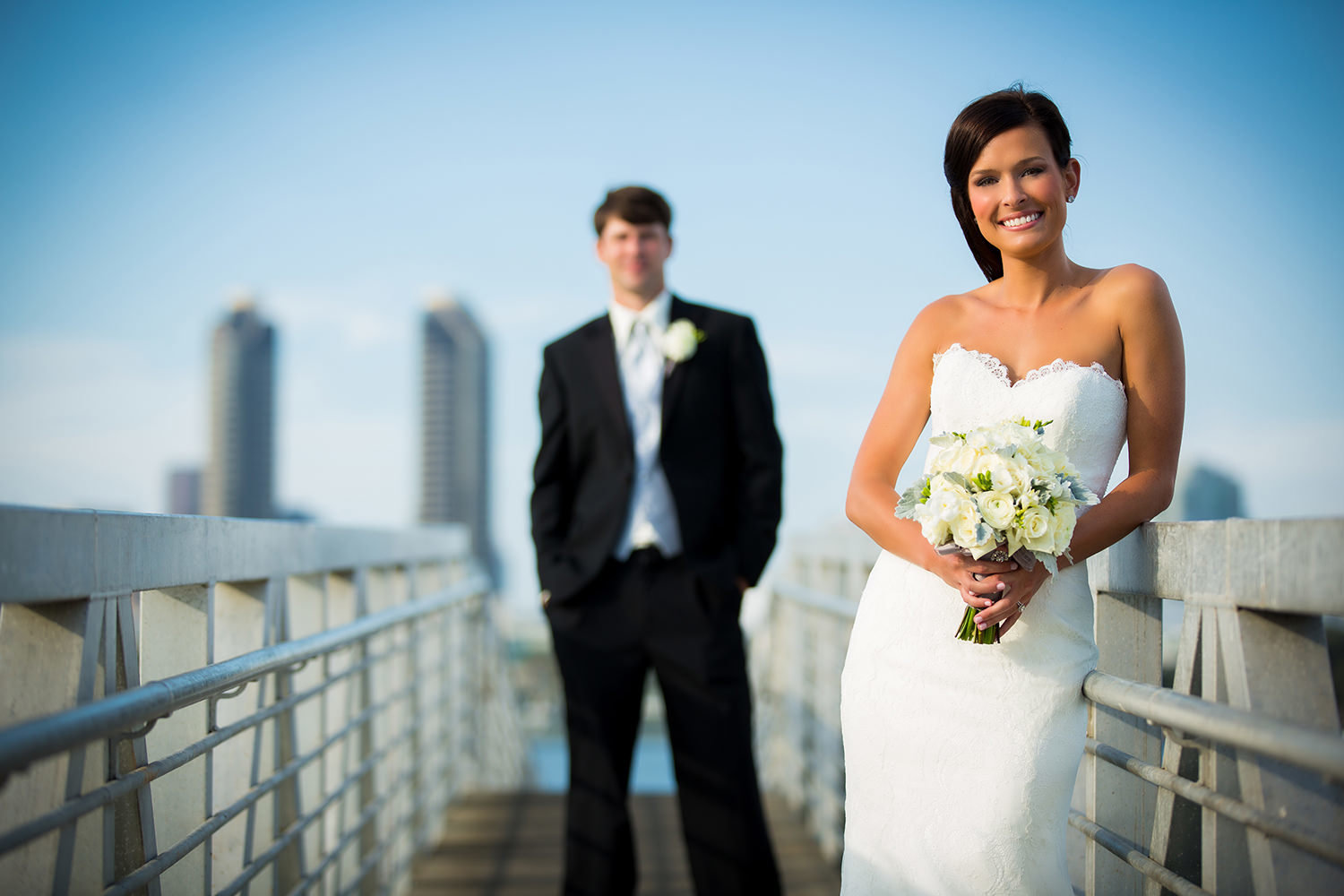 Classic bridal portrait at the Coronado Marina