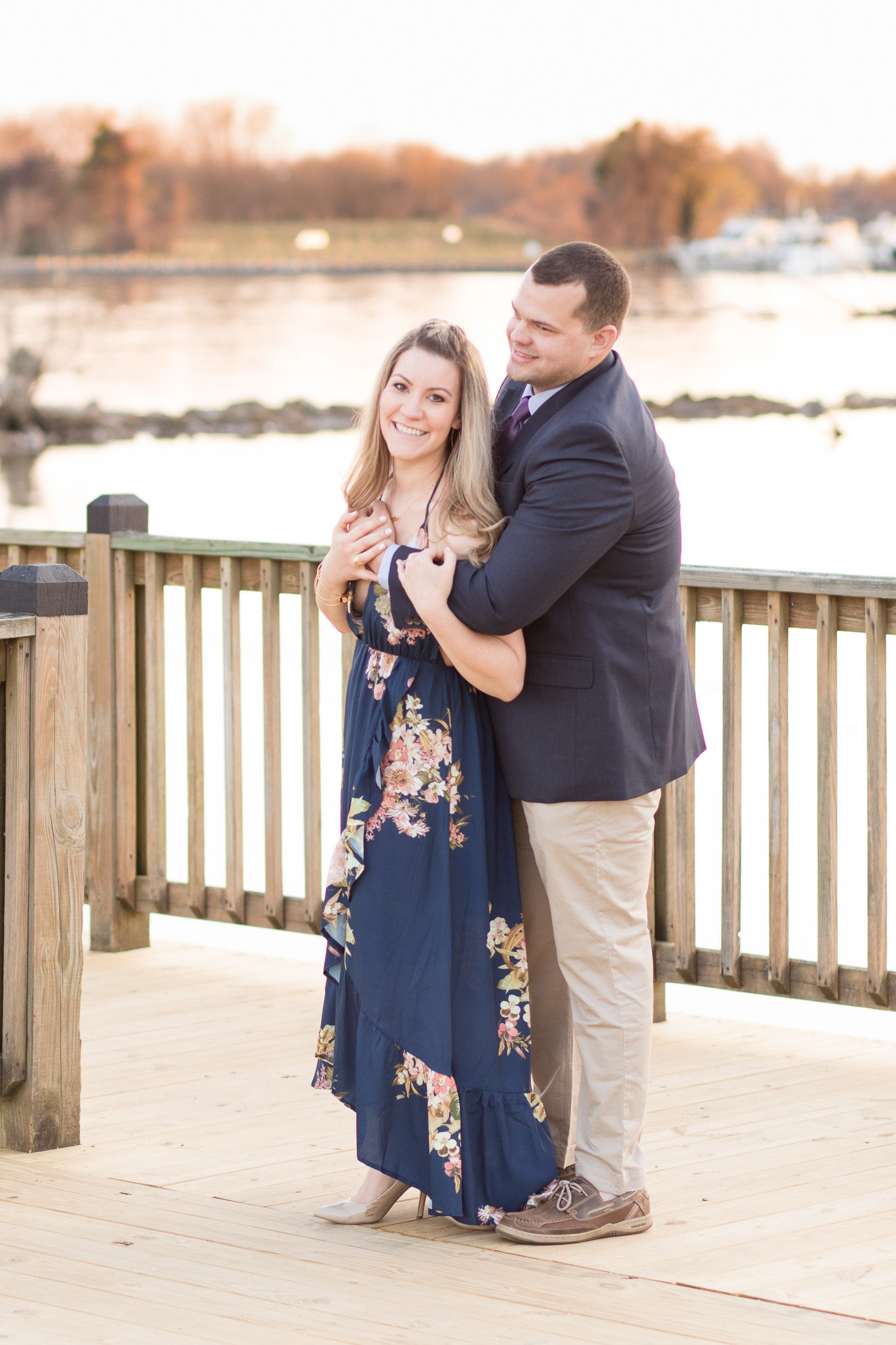 Micki and John during their engagement session at Havre de Grace