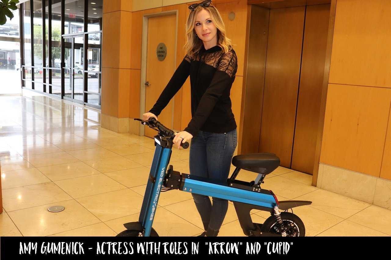 "Amy Gumenick actor in popular show ""ARROW"" & ""CUPID"" is promting V&D Electric Bikes"