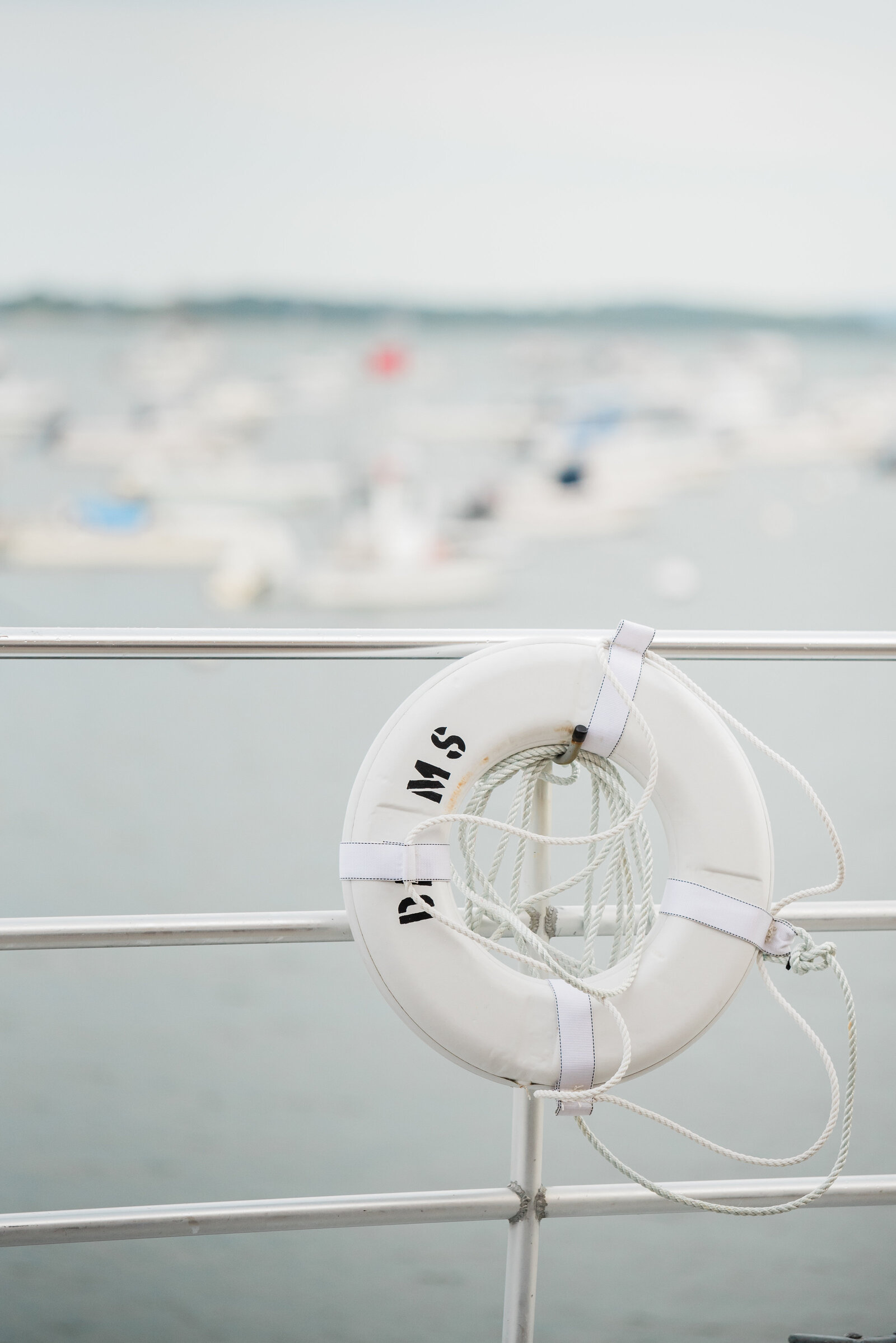 nautical details at duxbury bay maritime school wedding on the water