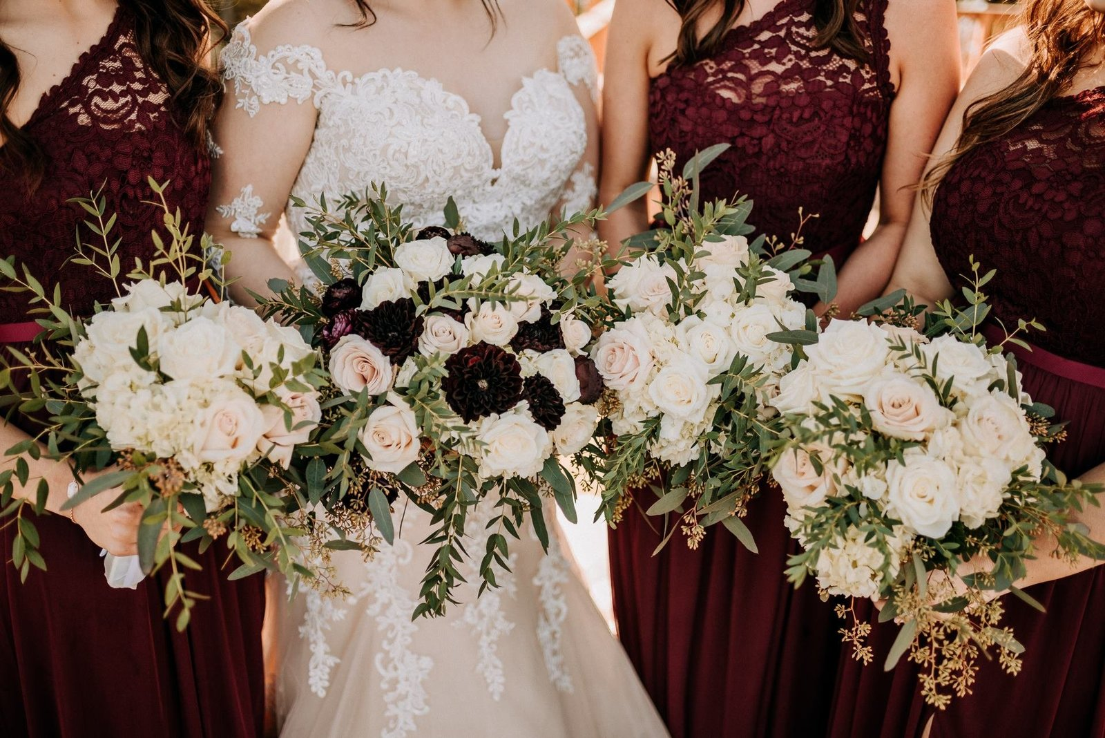 Bridal bouquets for wedding by A Perfect Bloom / Kylie Farmer Photography