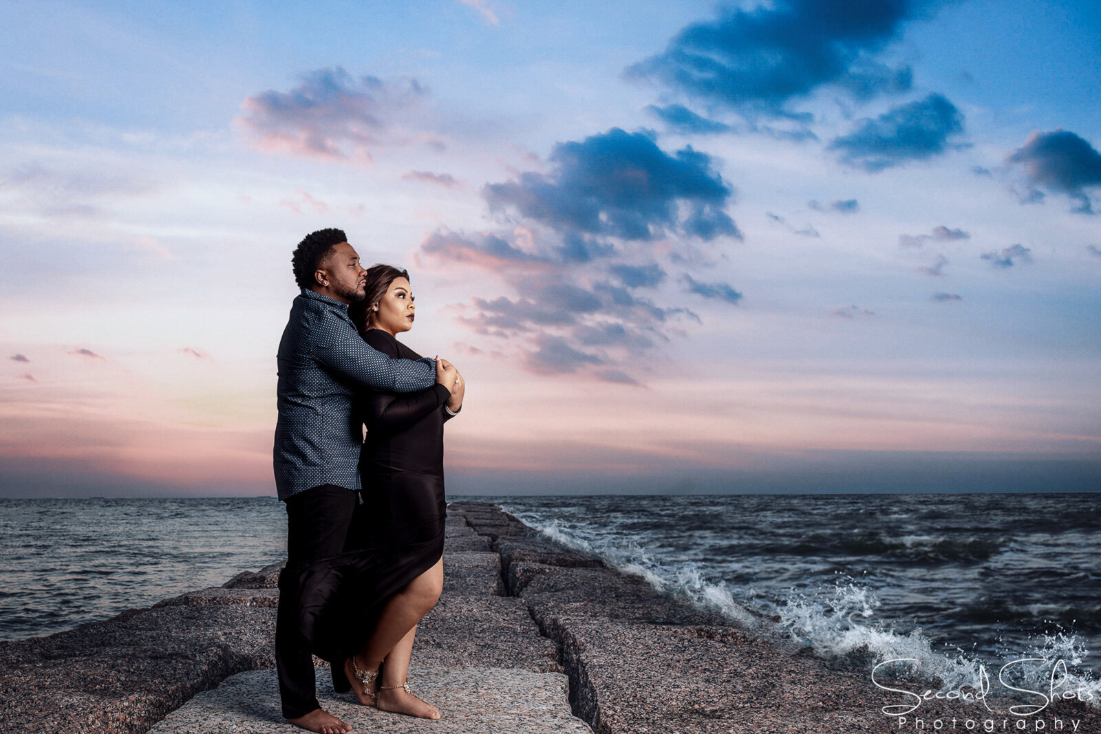 043 Galveston Beach Engagement Photos