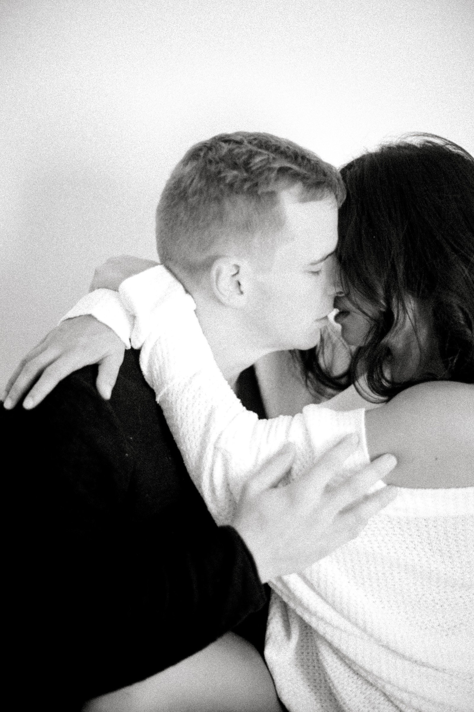 M&M Romantic Playful Interracial Couples Boudoir Photos Norfolk VA Beach Yours Truly Portraiture-12