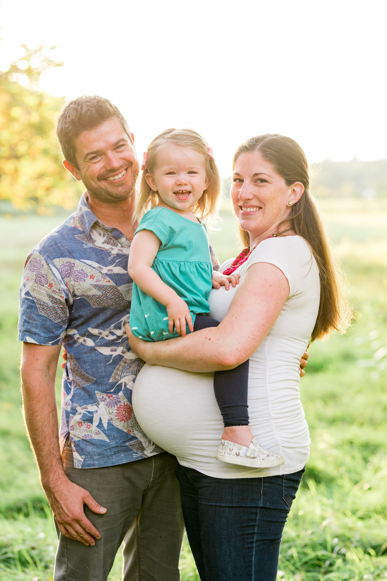 Summer Family Maternity Photo
