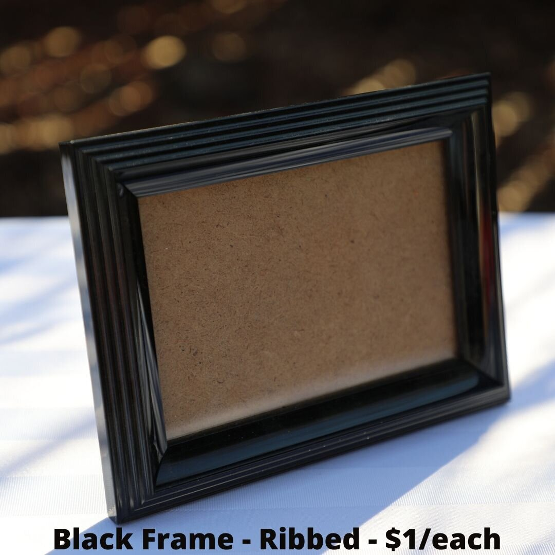 black frame ribbed