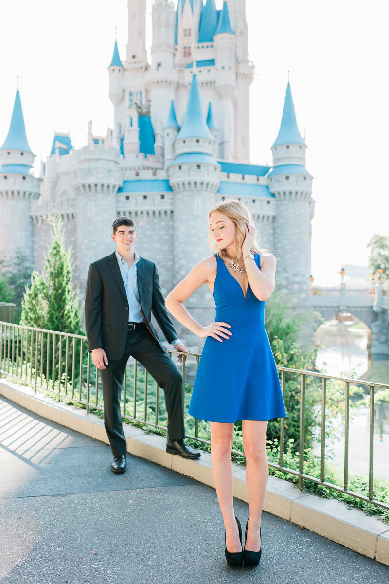 Orlando Engagement Photographer | Disney Magic Kingdom Engagement Session | Enagement at Disney-25
