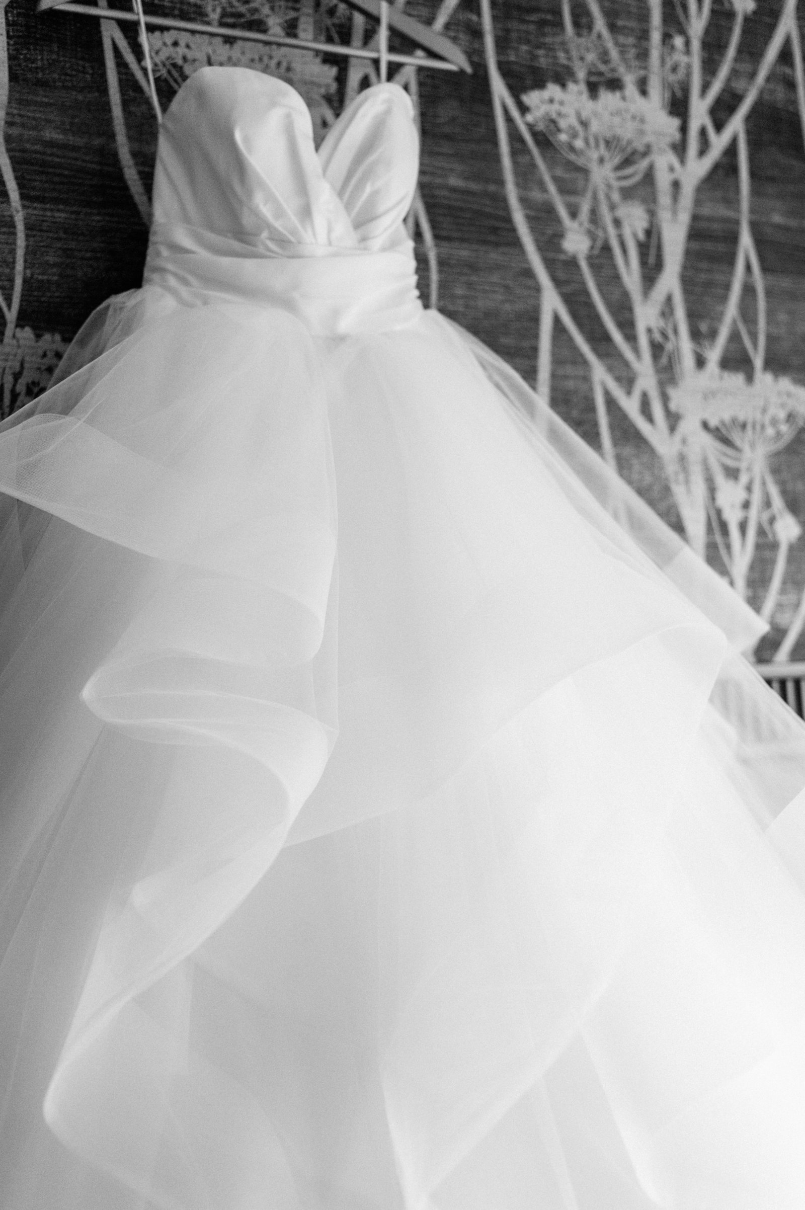 layered hayley paige wedding gown