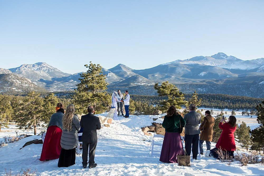 Colorado winter wedding at 3m curve Rocky Mountain National Park