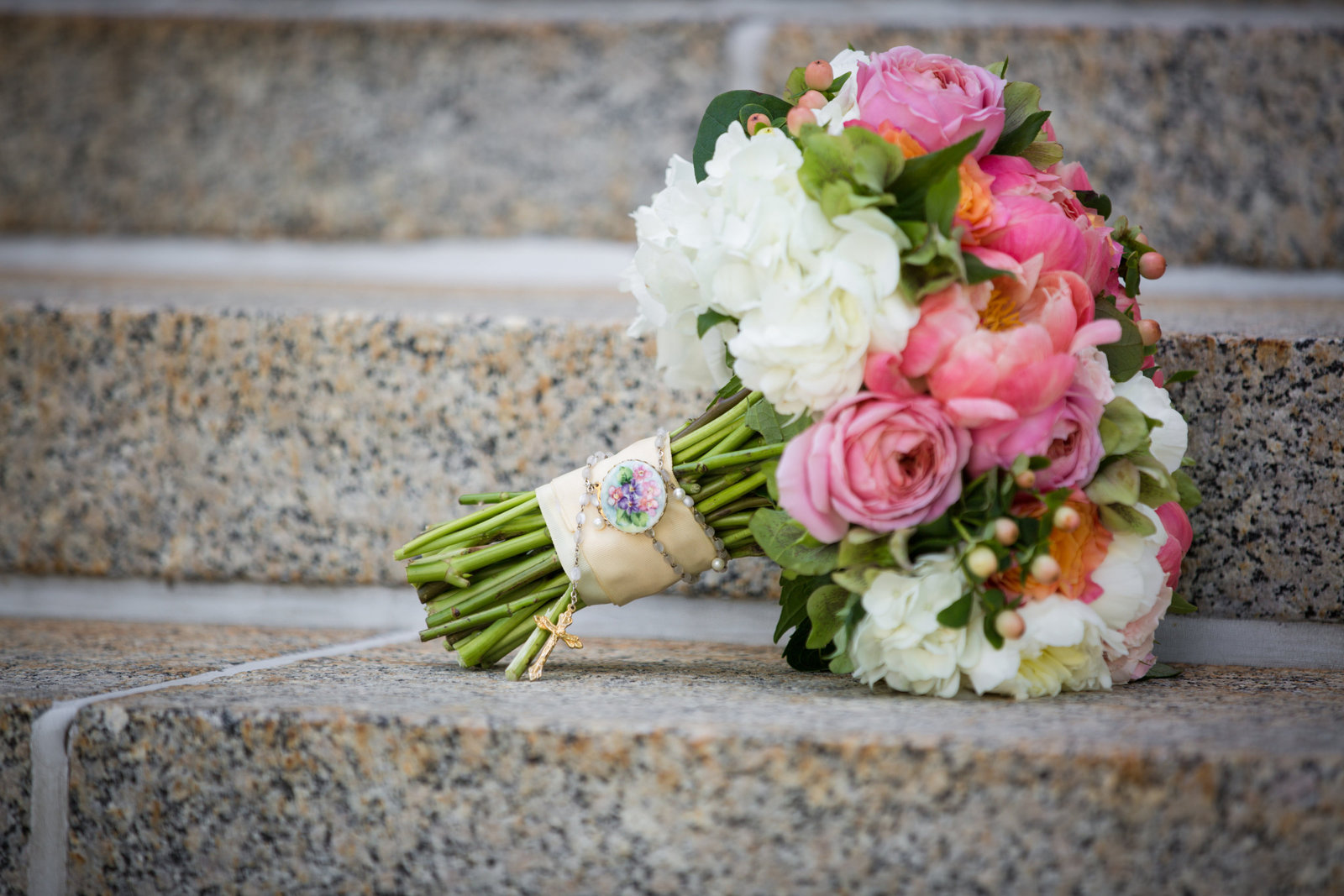 bridal-bouquet-featuring-coral-charm-peonies-and-garden-roses_26829196340_o