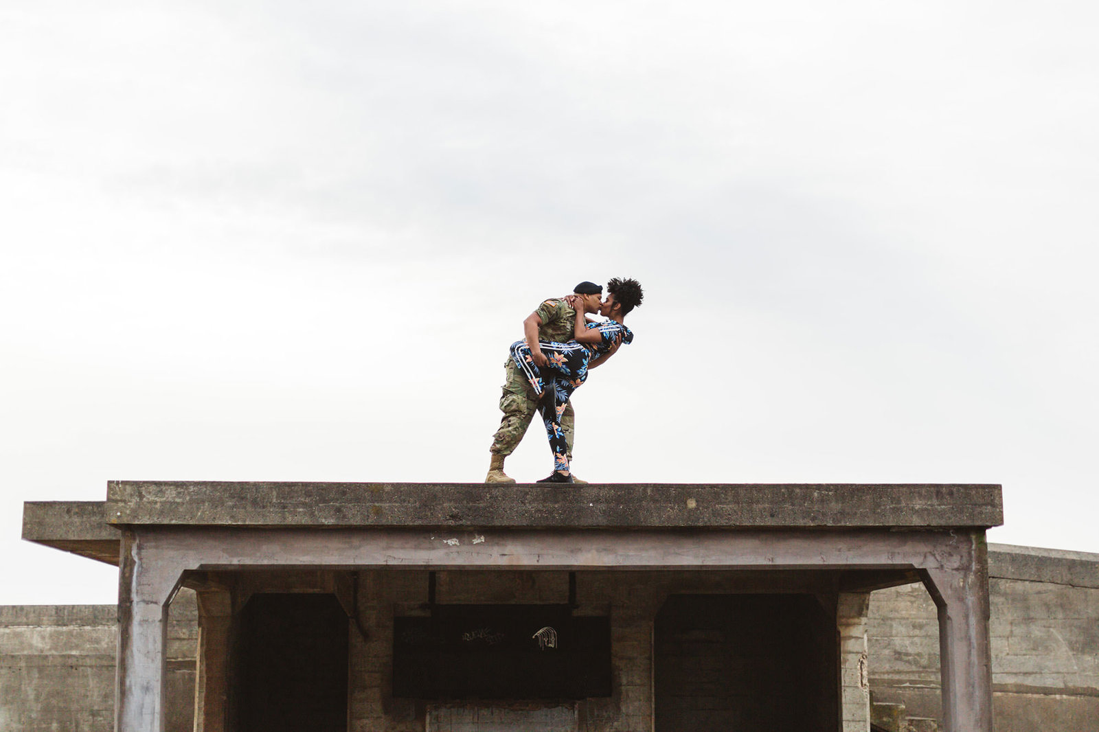 epic engagement photos at one of the military batteries on the san francisco coastline