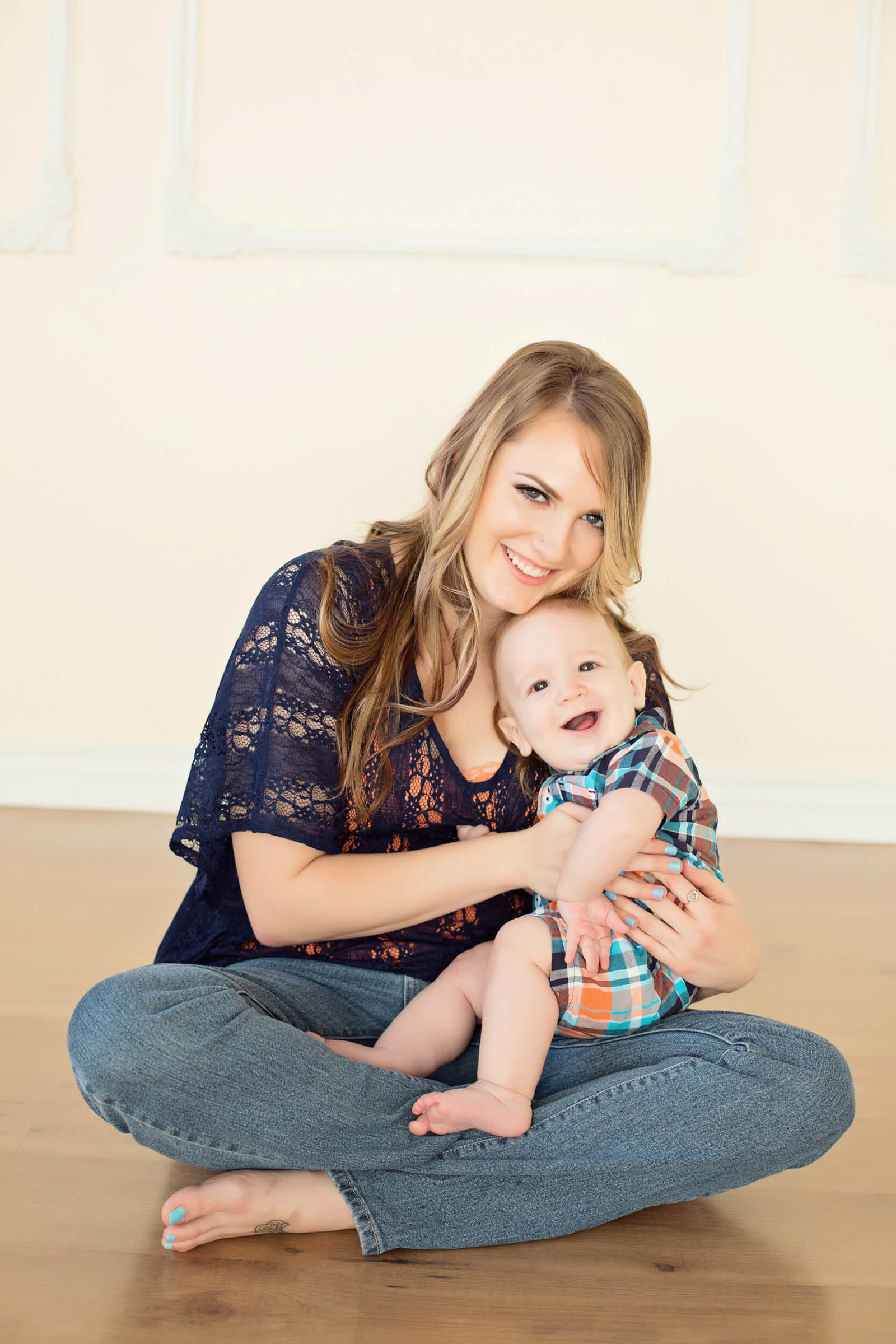 Mommy and me six month boy photography