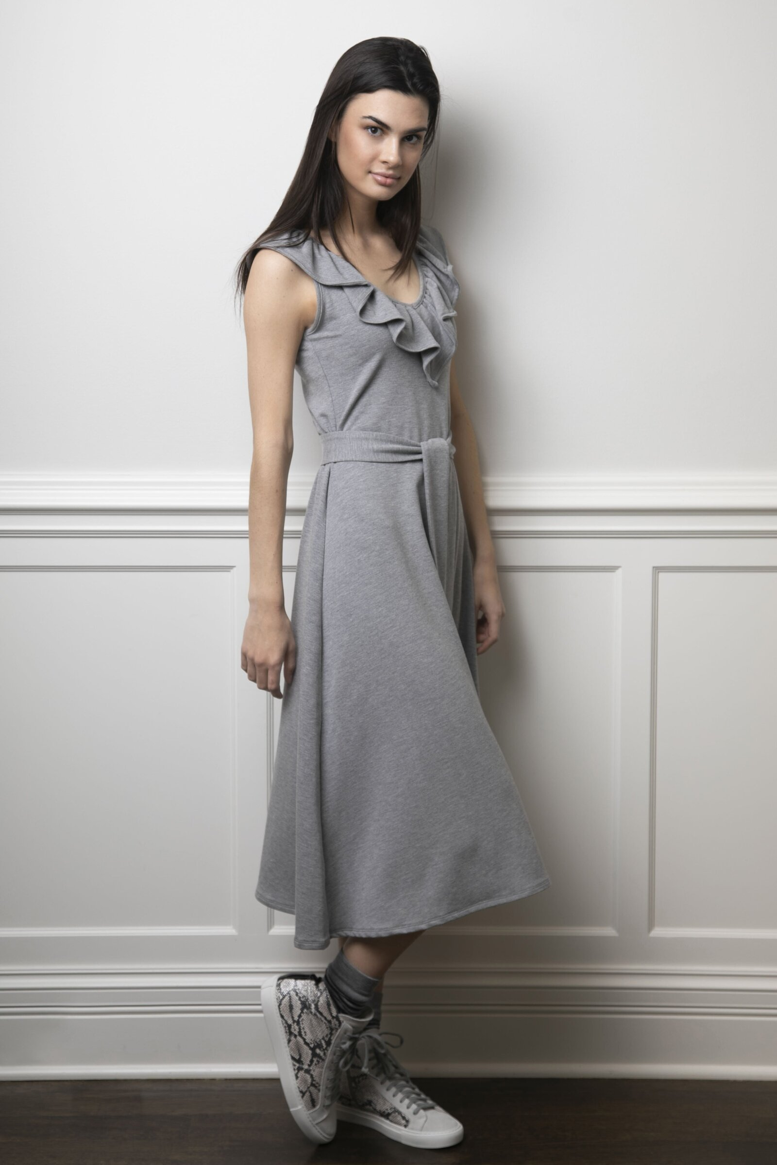 The Peggy Dress Gray Fleece02