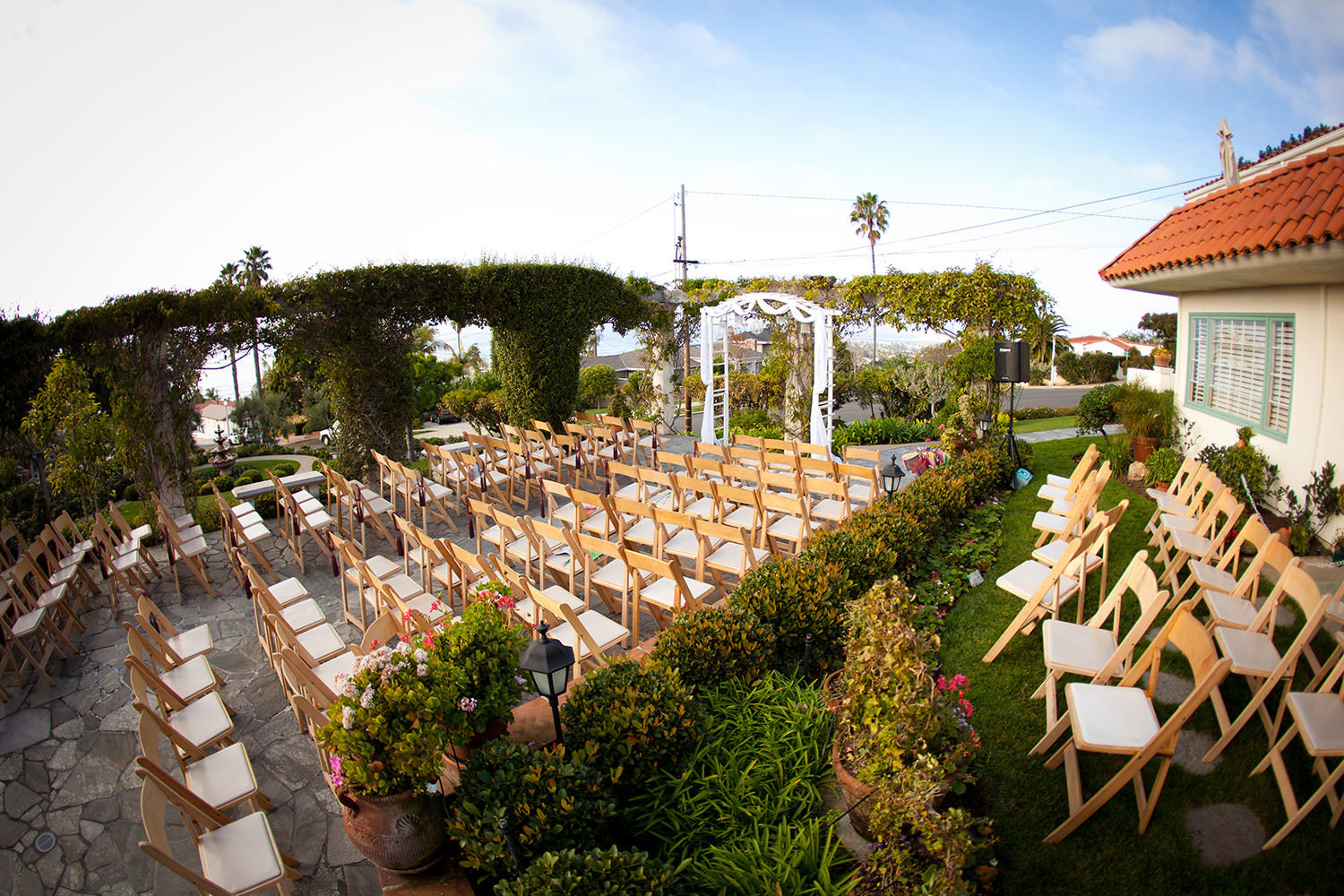 ceremony space with nice chairs