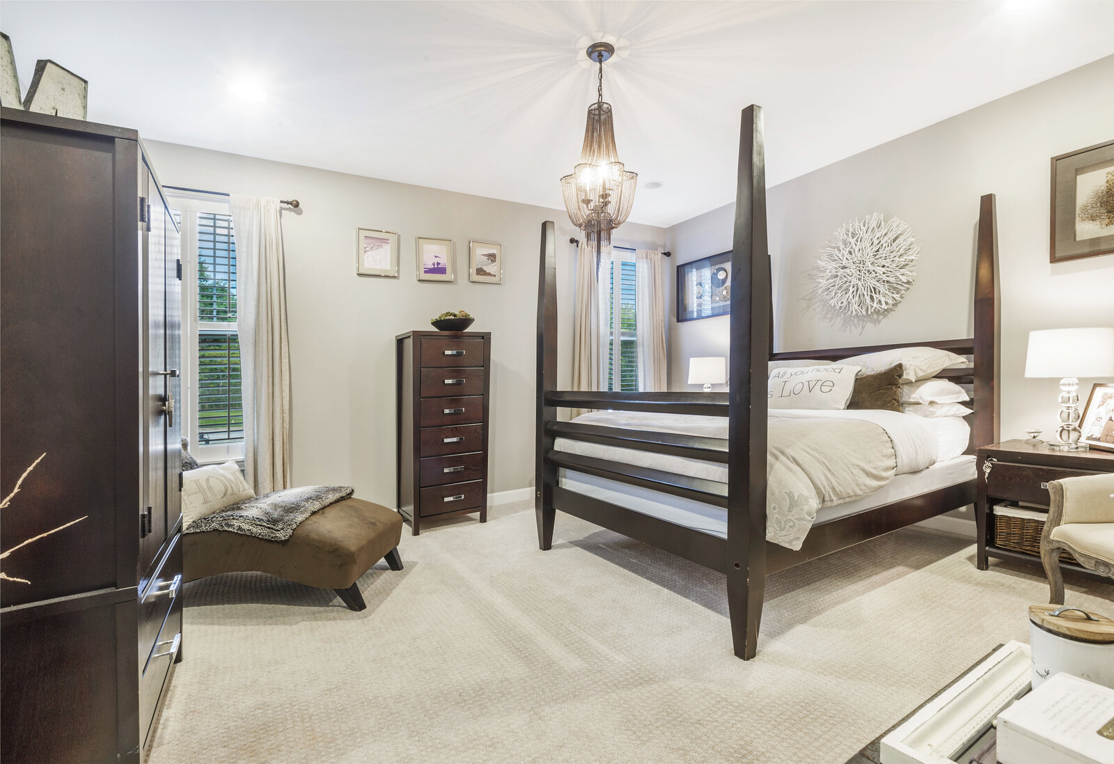 real estate photography master bedroom