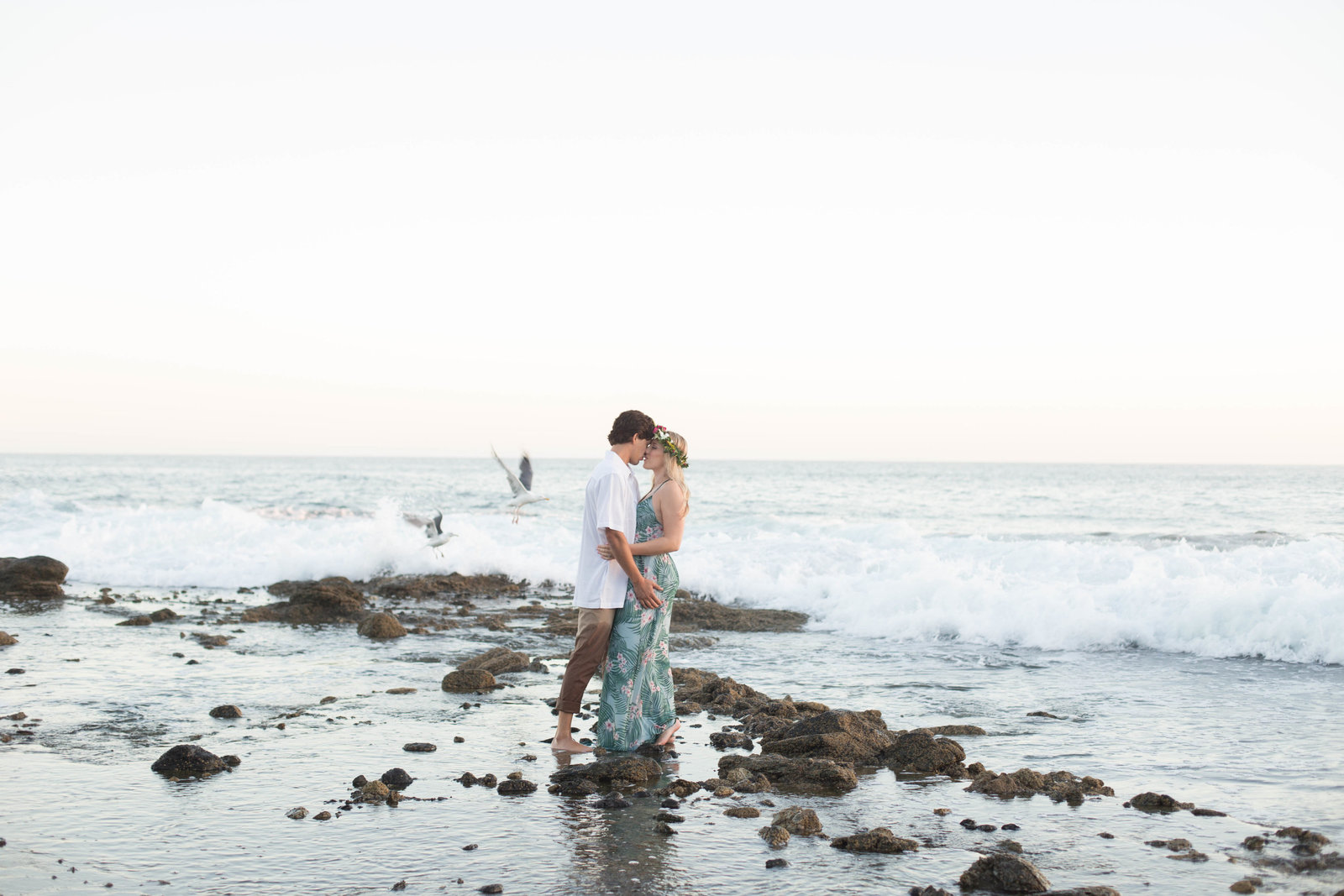 laguna beach tides engagement session - kelly h photo