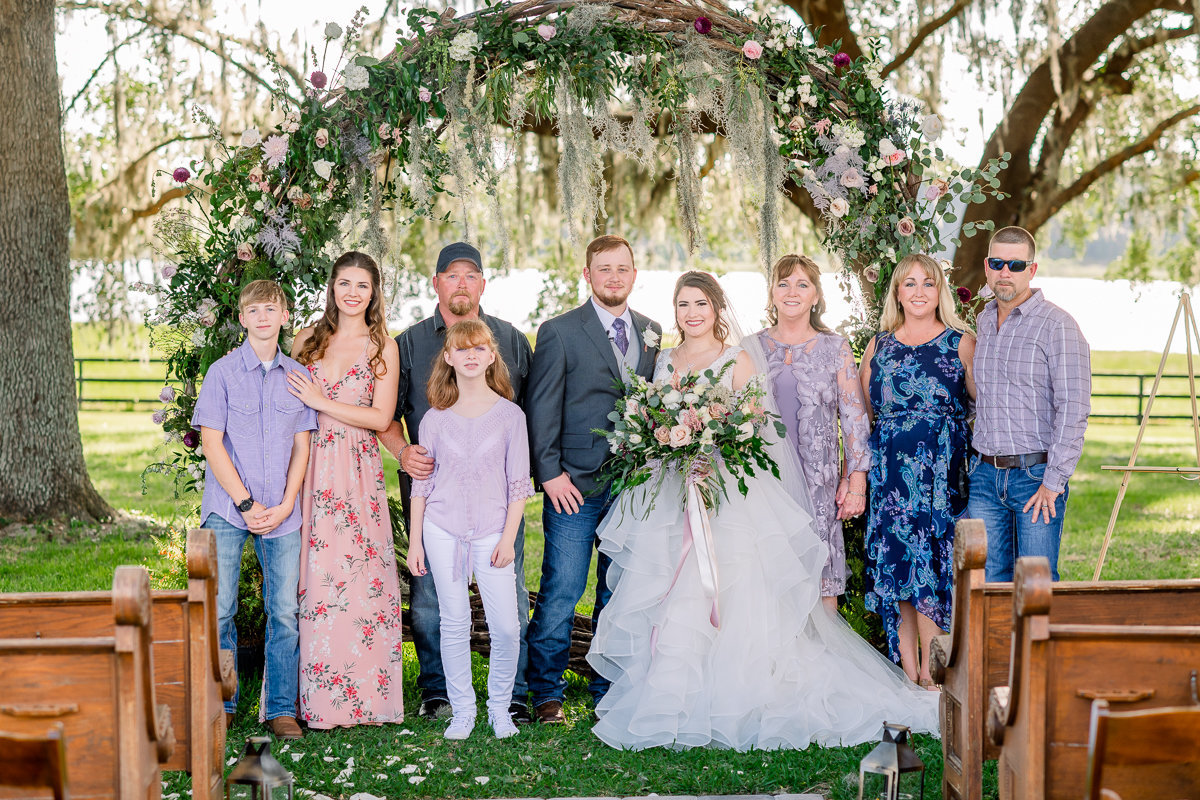 Covington Farm Wedding | Dade City Wedding Photographer | Family Formal Portraits-4