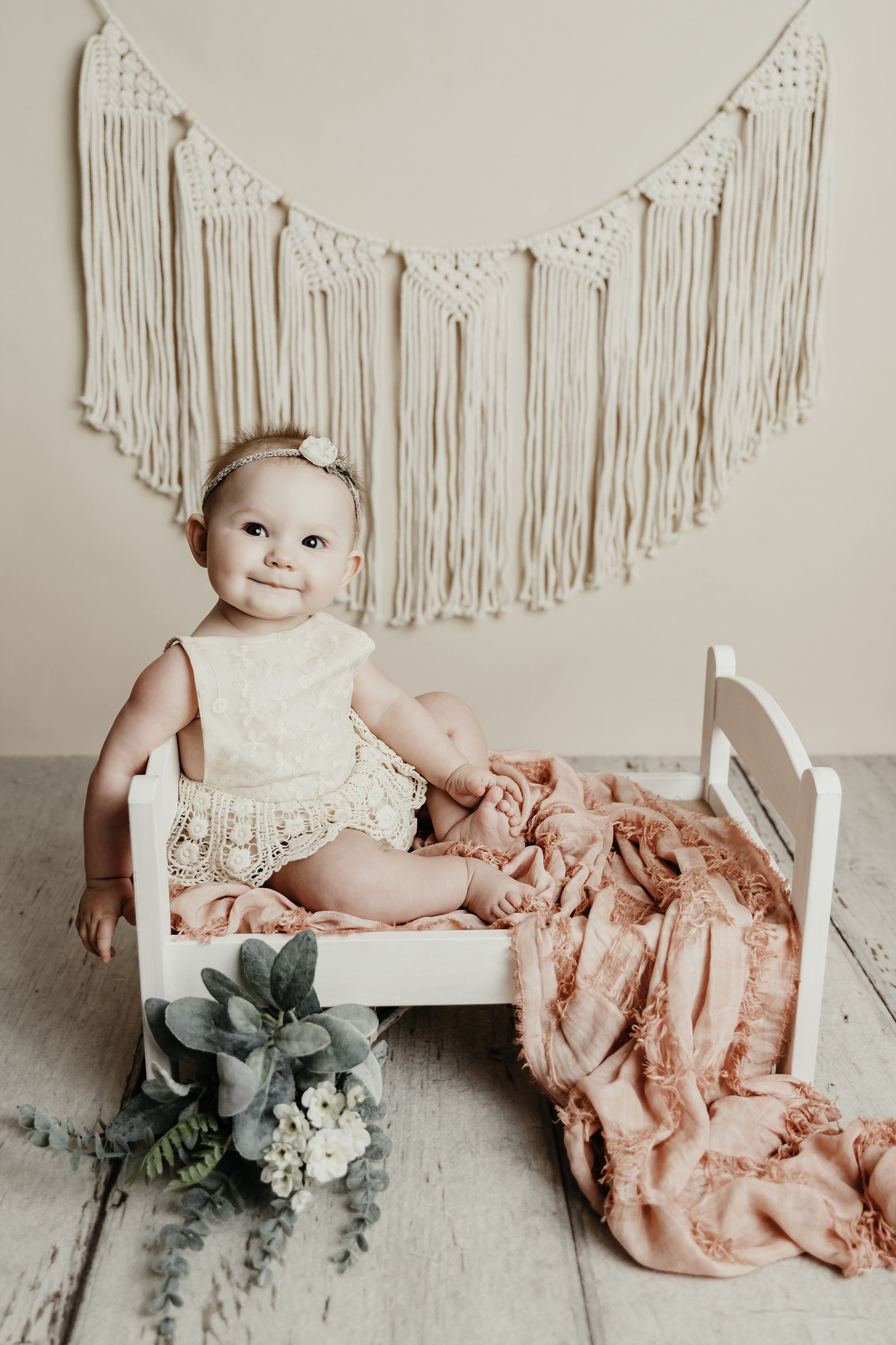 Karis 6 Month Sitter Session Boise baby photographer