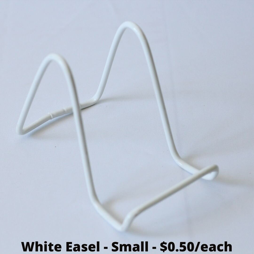 white easel small