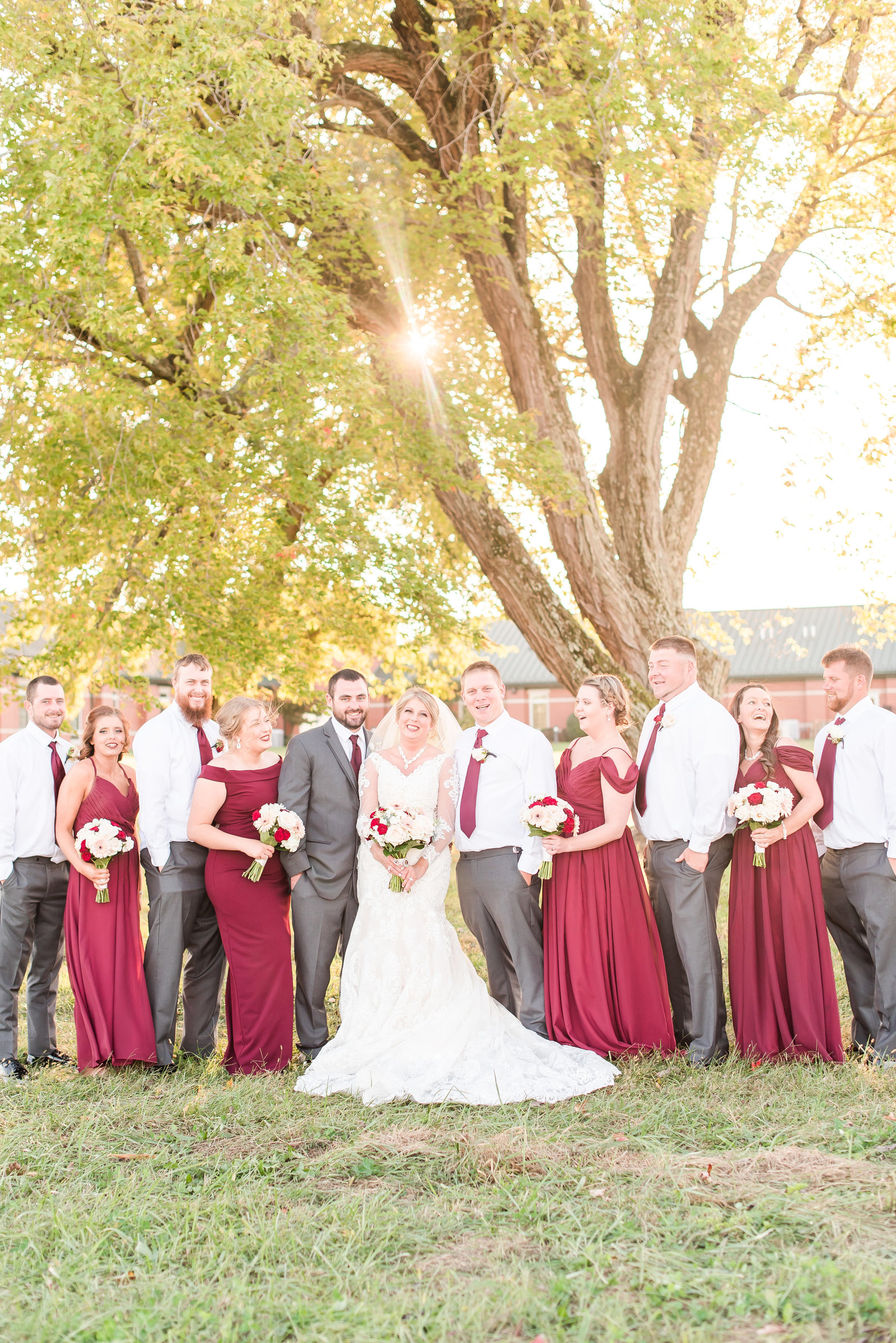 Burgundy Wedding at Westgate Academy