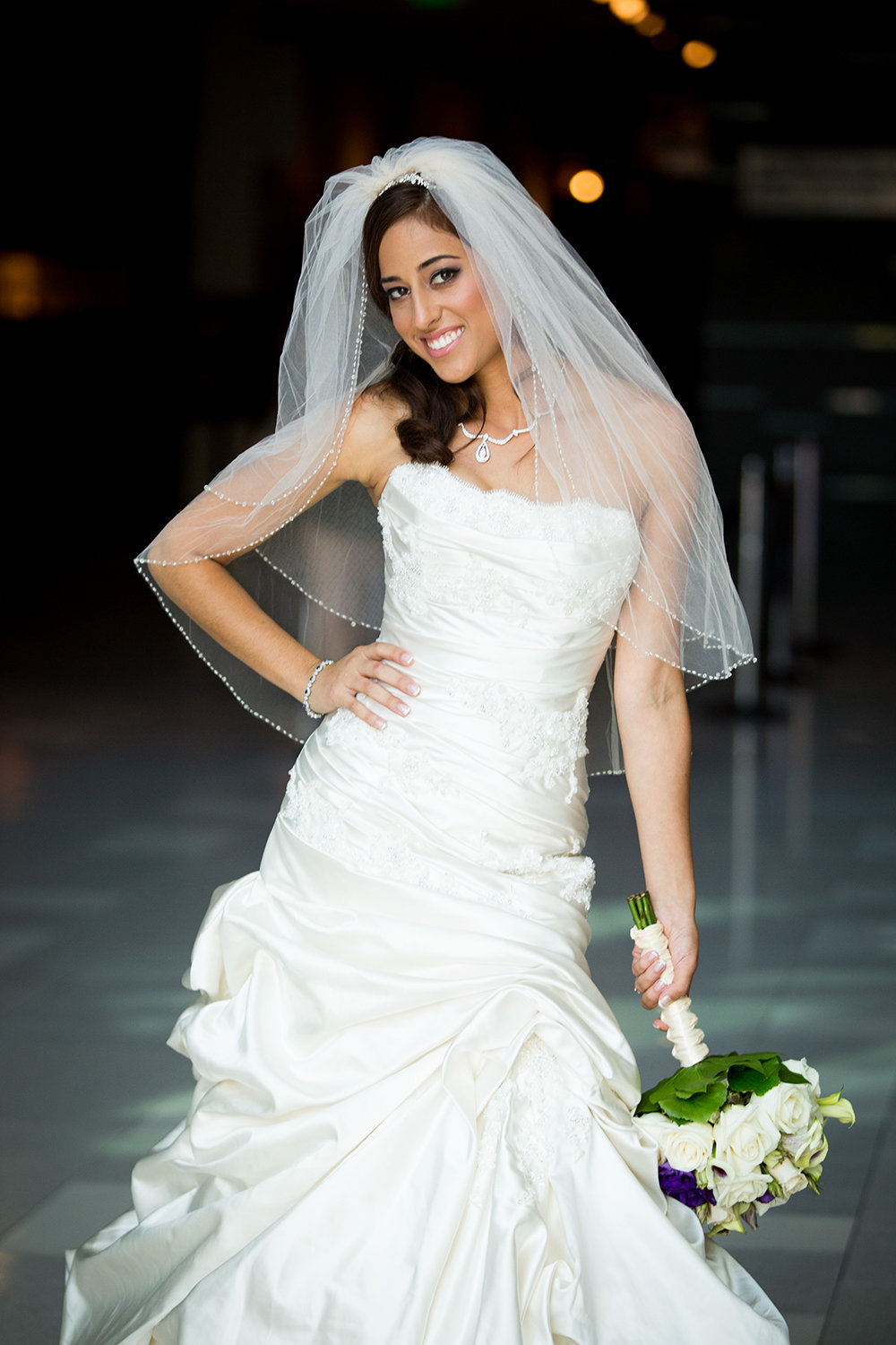 Bridal portrait at Hard Rock Hotel in Downtown San Diego