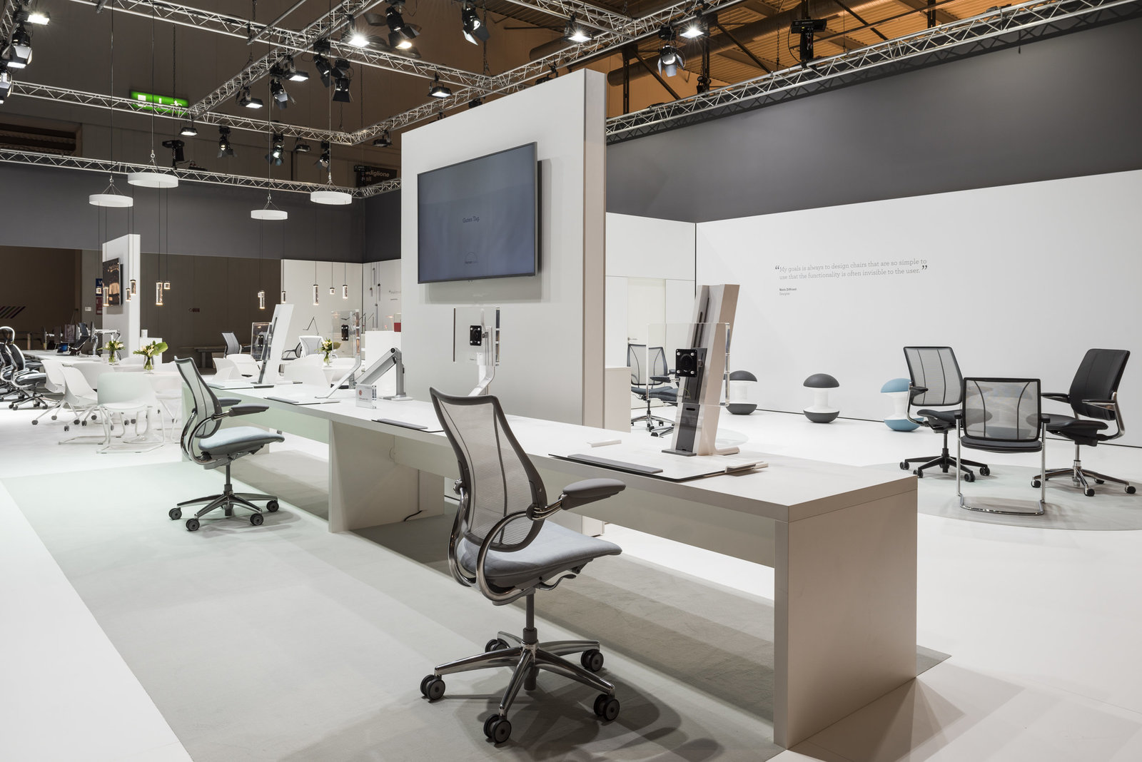 humanscale salone del mobile trade show photos