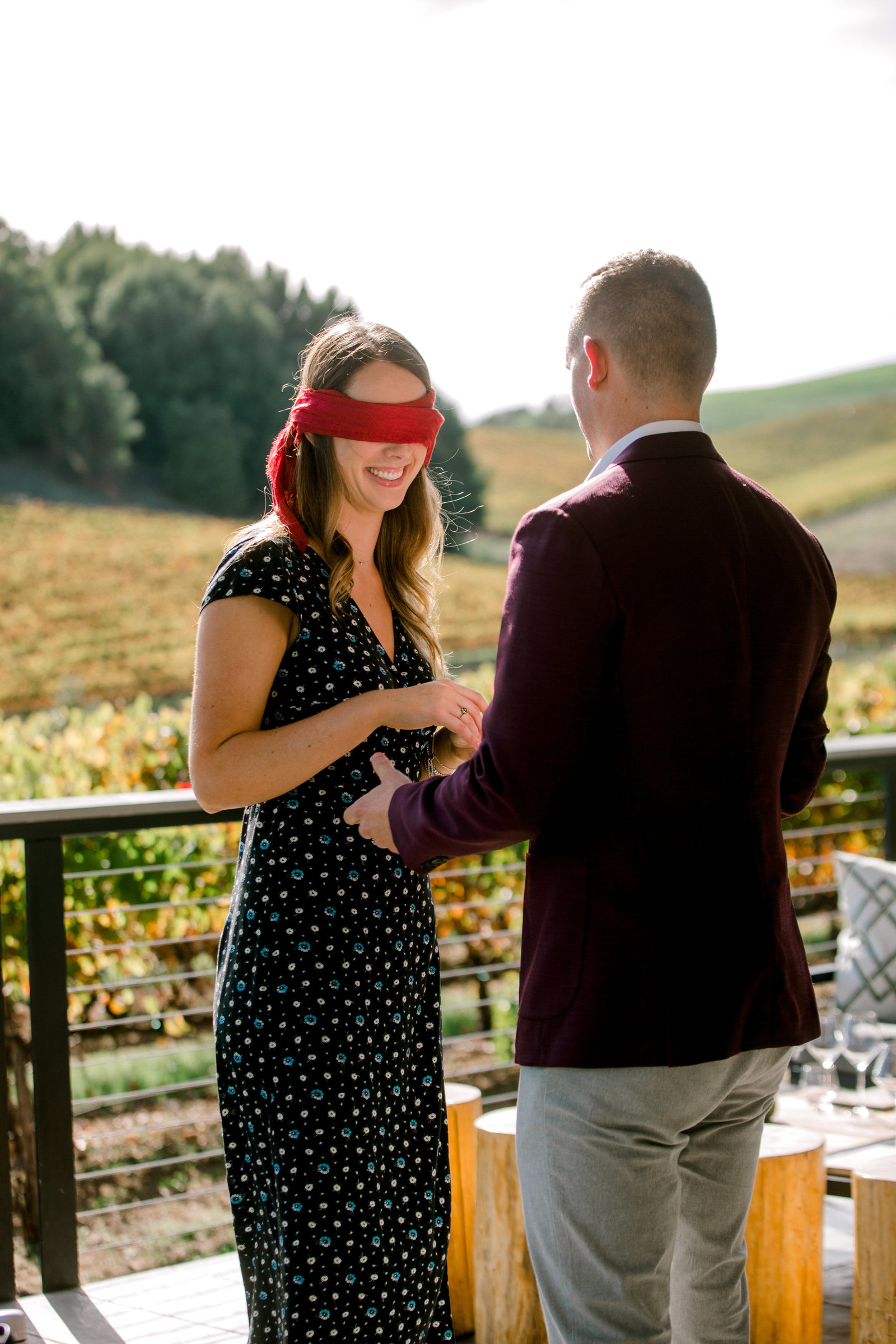 blind taste turned surprise proposal at macrostie winery in healdsburg