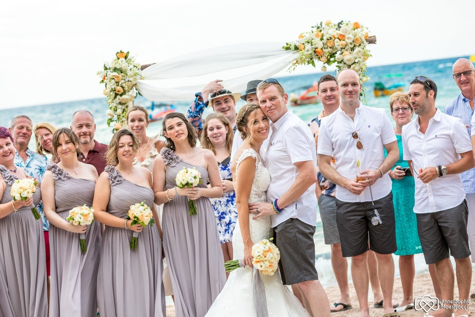 Wedding with guests on Koh Tao