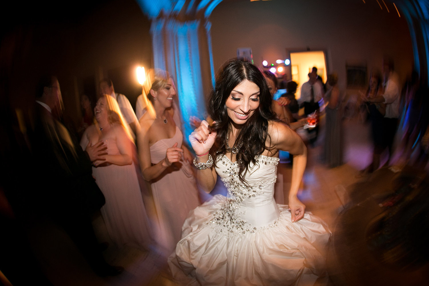 Documentary Wedding Photography styled shot of a bride at the reception