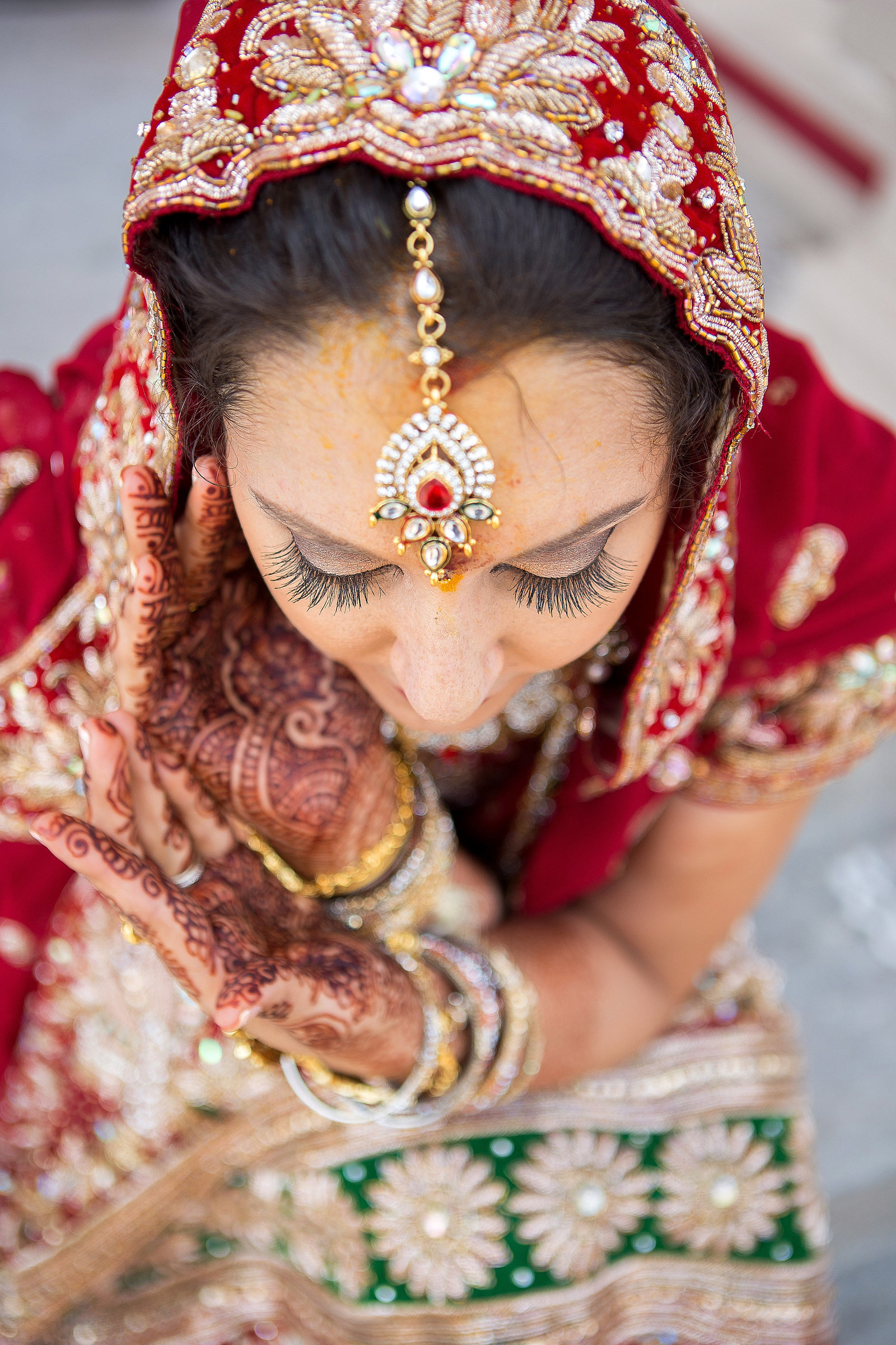 Indian wedding bride Nashville