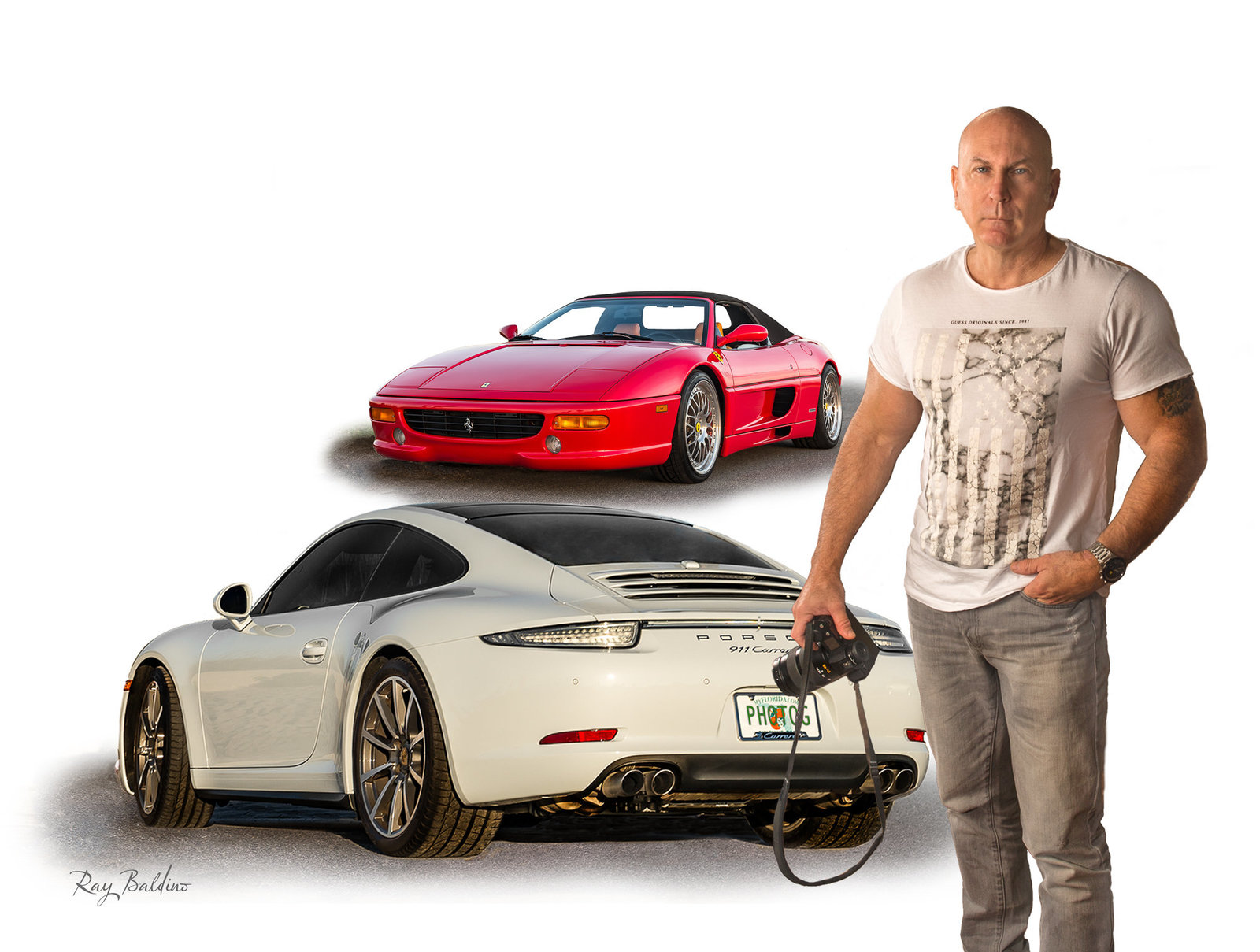 ray baldino with his cars