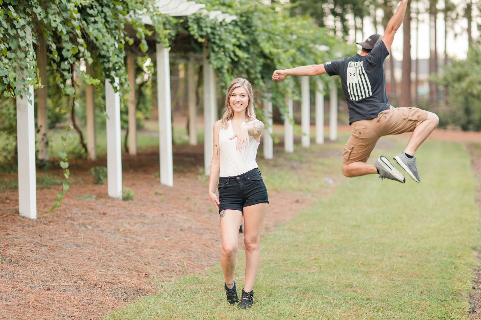 Jennifer B Photography-Sandhills Horticultural Gardens Engagement-Pinehurst NC-Cody and Kayla-2019-0304