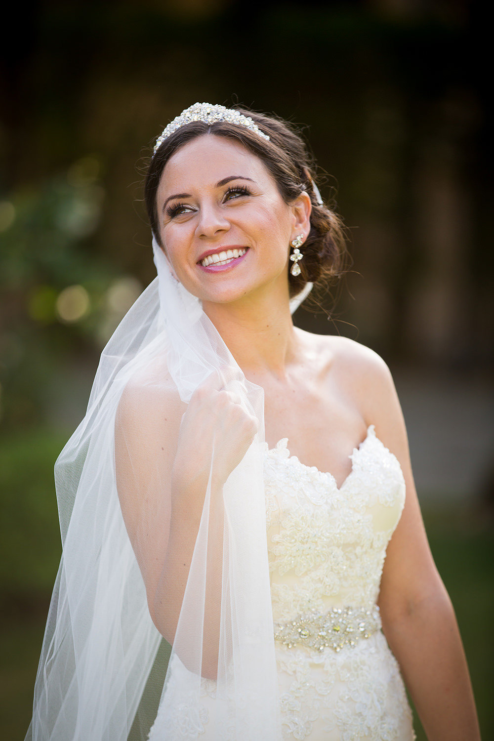Candid and fun bridal portrait