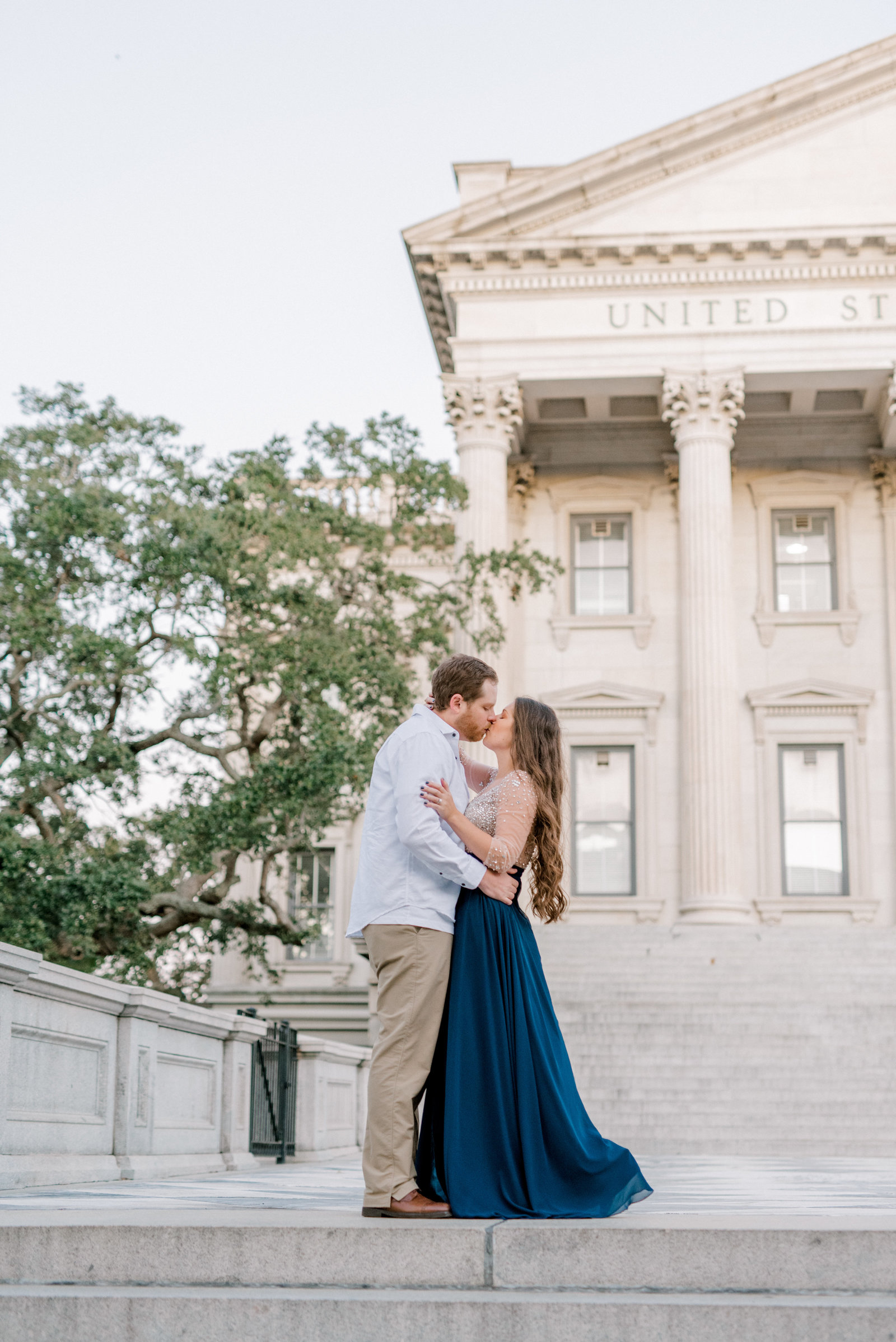 Charleston SC Engagement Session at Law Building