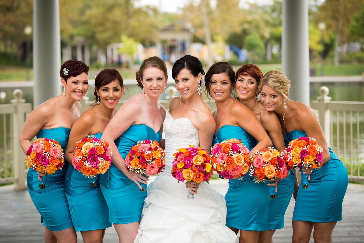 bridal party image at leoness cellars