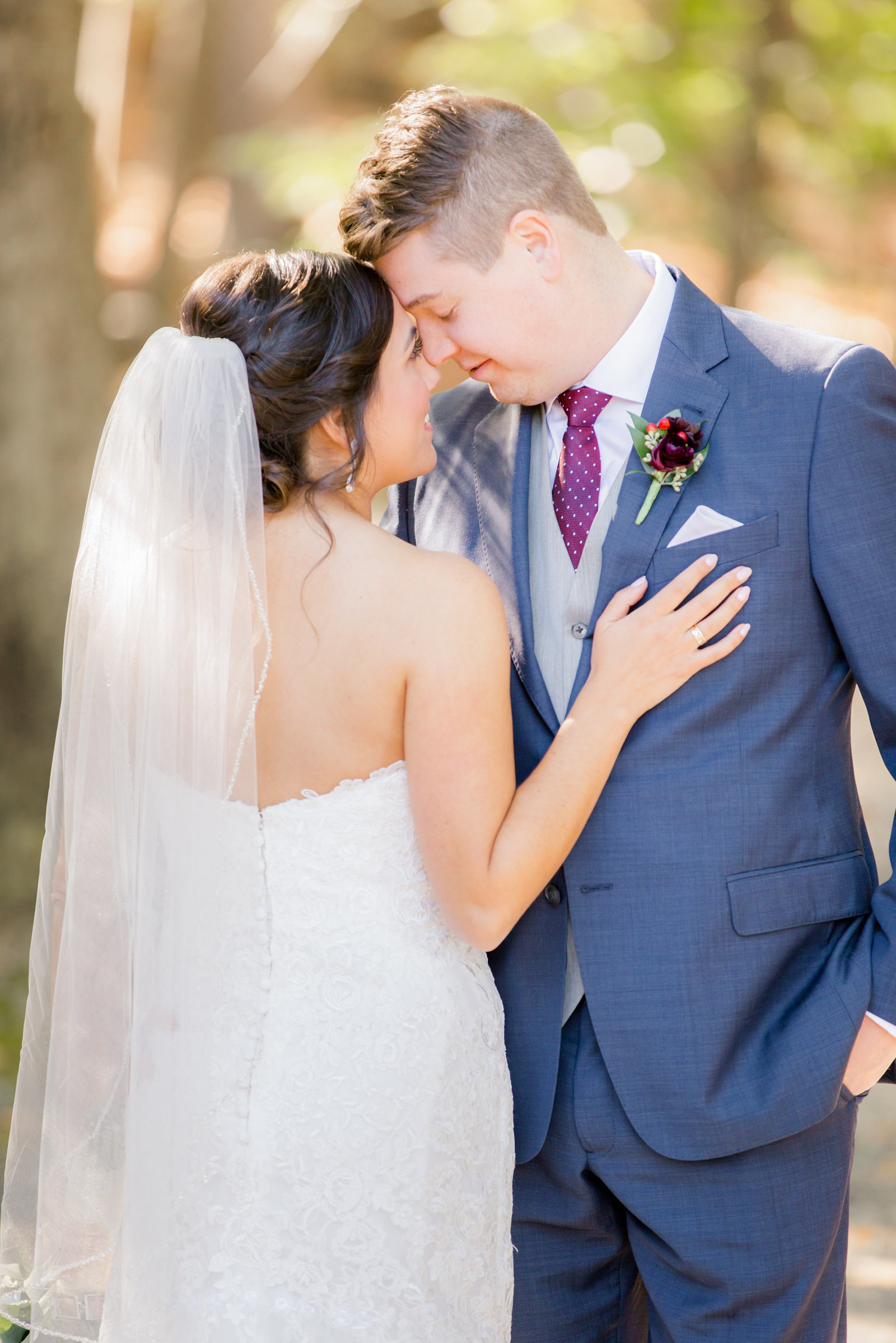 Romantic bride and groom photo at Meadow Wood Manor